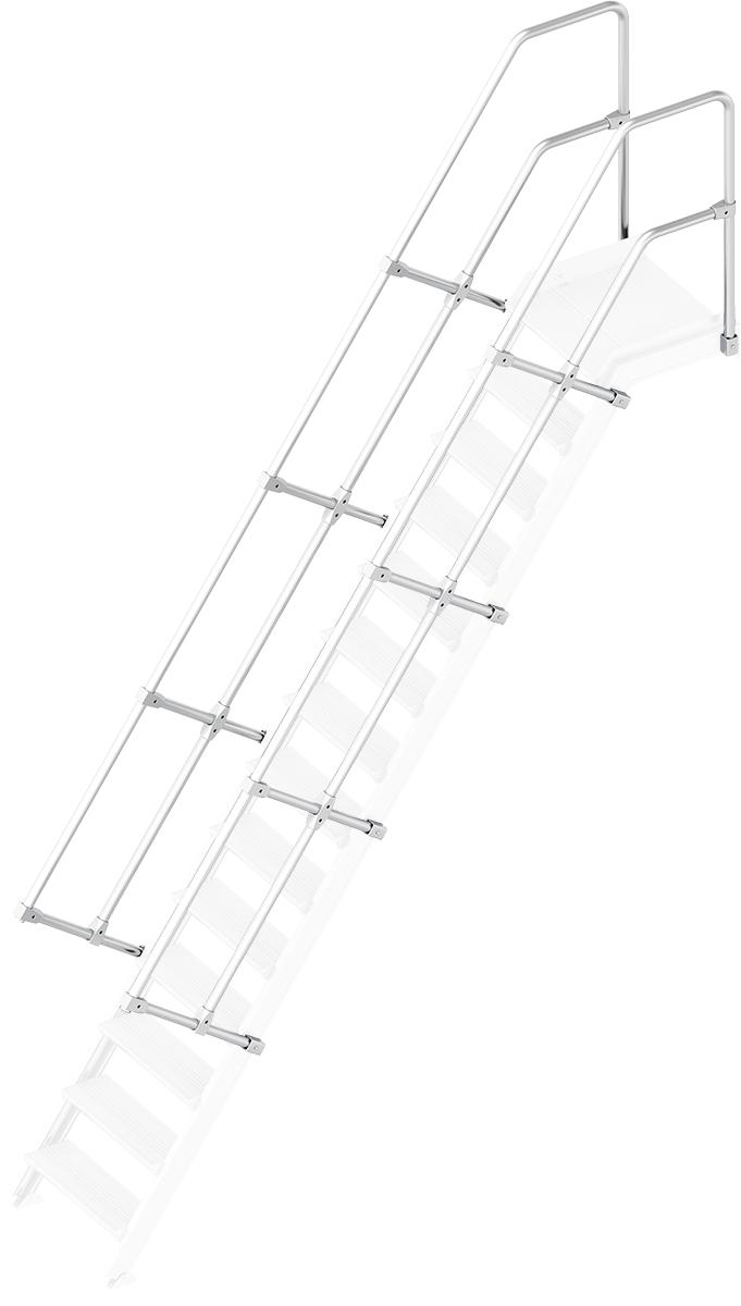 Layher Handlauf Geländer Plattformtreppe 55° 14 Stufen