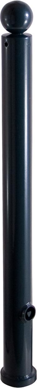 Schake Stilpfosten 475 OE Ø 76 mm anthrazit Pfosten mit Kugelkopf - ortsfest - zum Einbetonieren (SK-475B) Bild-01