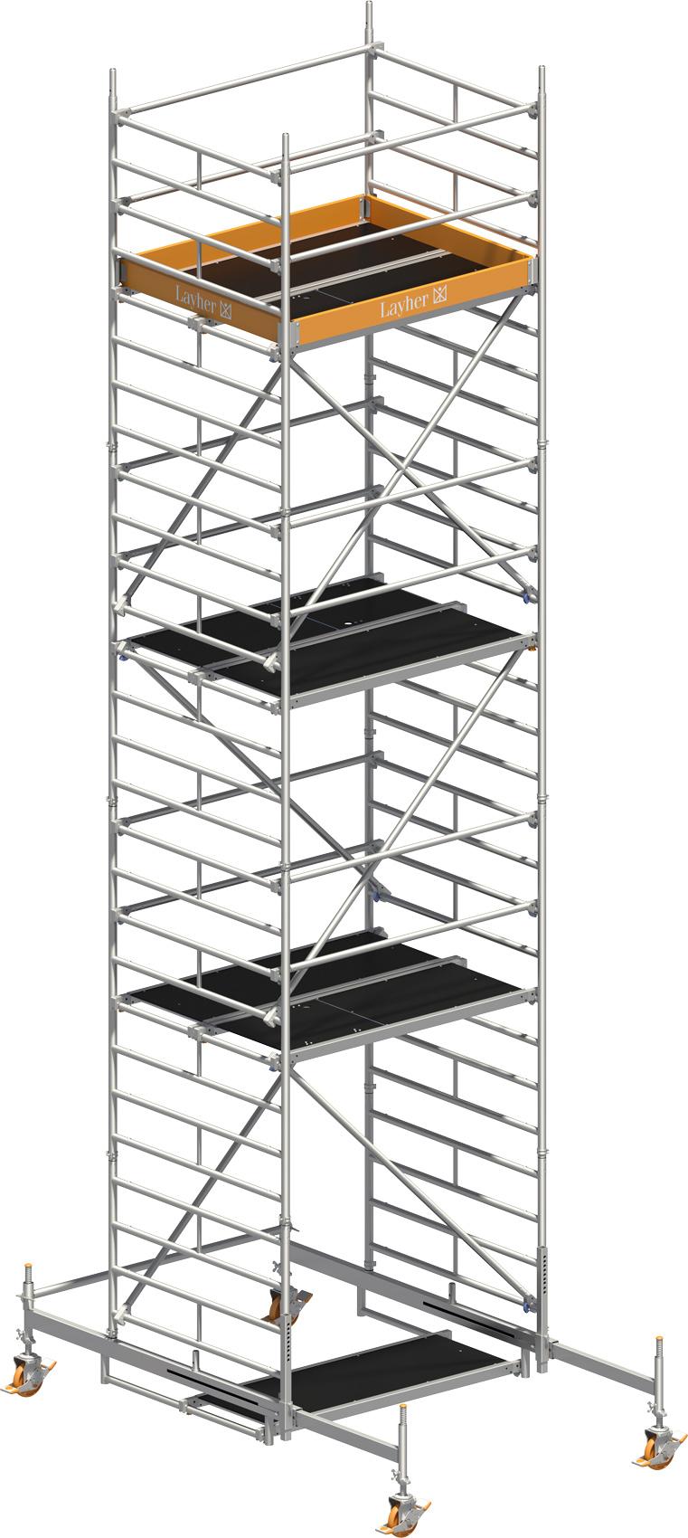 Fahrgerüst Layher Uni Kompakt P2 1405006 mit Diagonal-Optimierung
