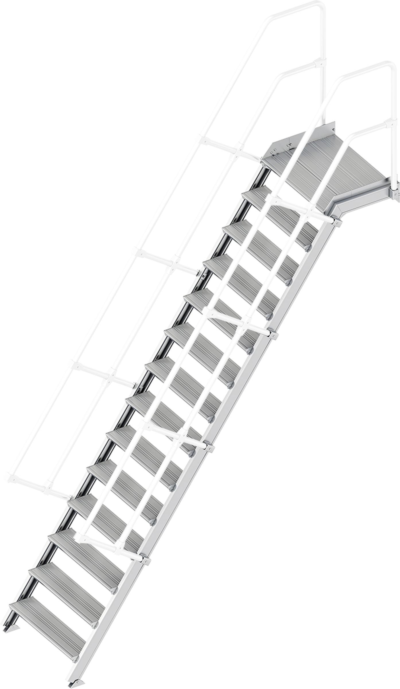 Layher Plattformtreppe 55° 14 Stufen - 800 mm breit