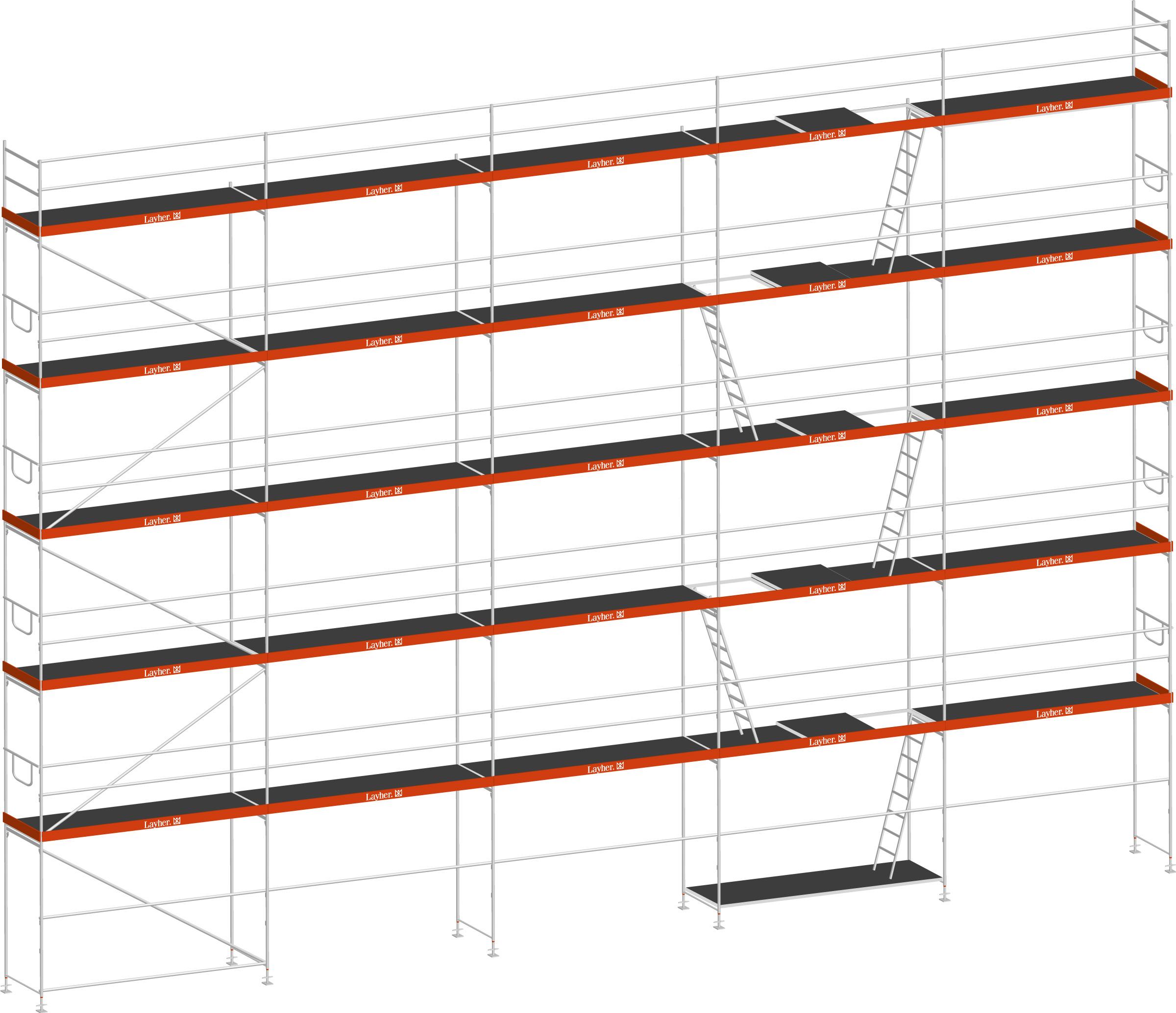 Layher Blitz Gerüst 70 Stahl 187 m²