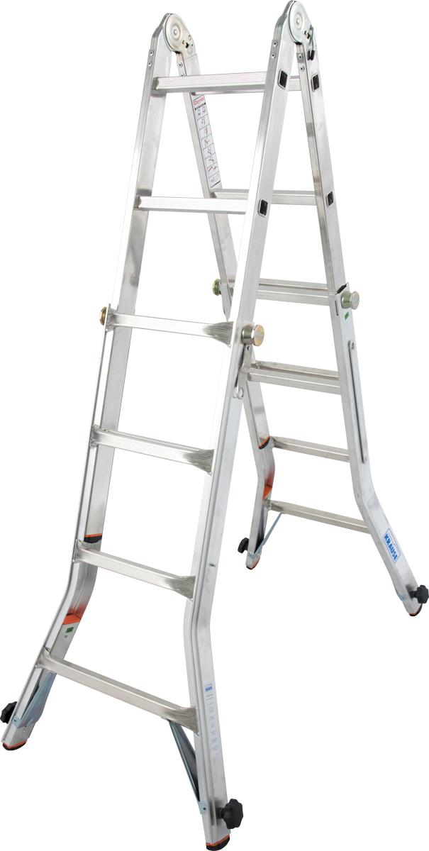 Krause Alu-Sprossenteleskopgelenkleiter TeleVario® 4x4 Sprossen