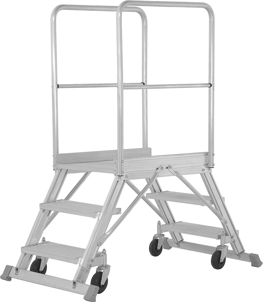 Hymer Podesttreppe fahrbar 2x3 Stufen