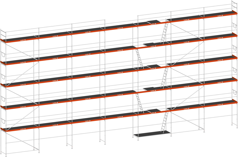 Layher Blitz Gerüst 70 Stahl 262 m²