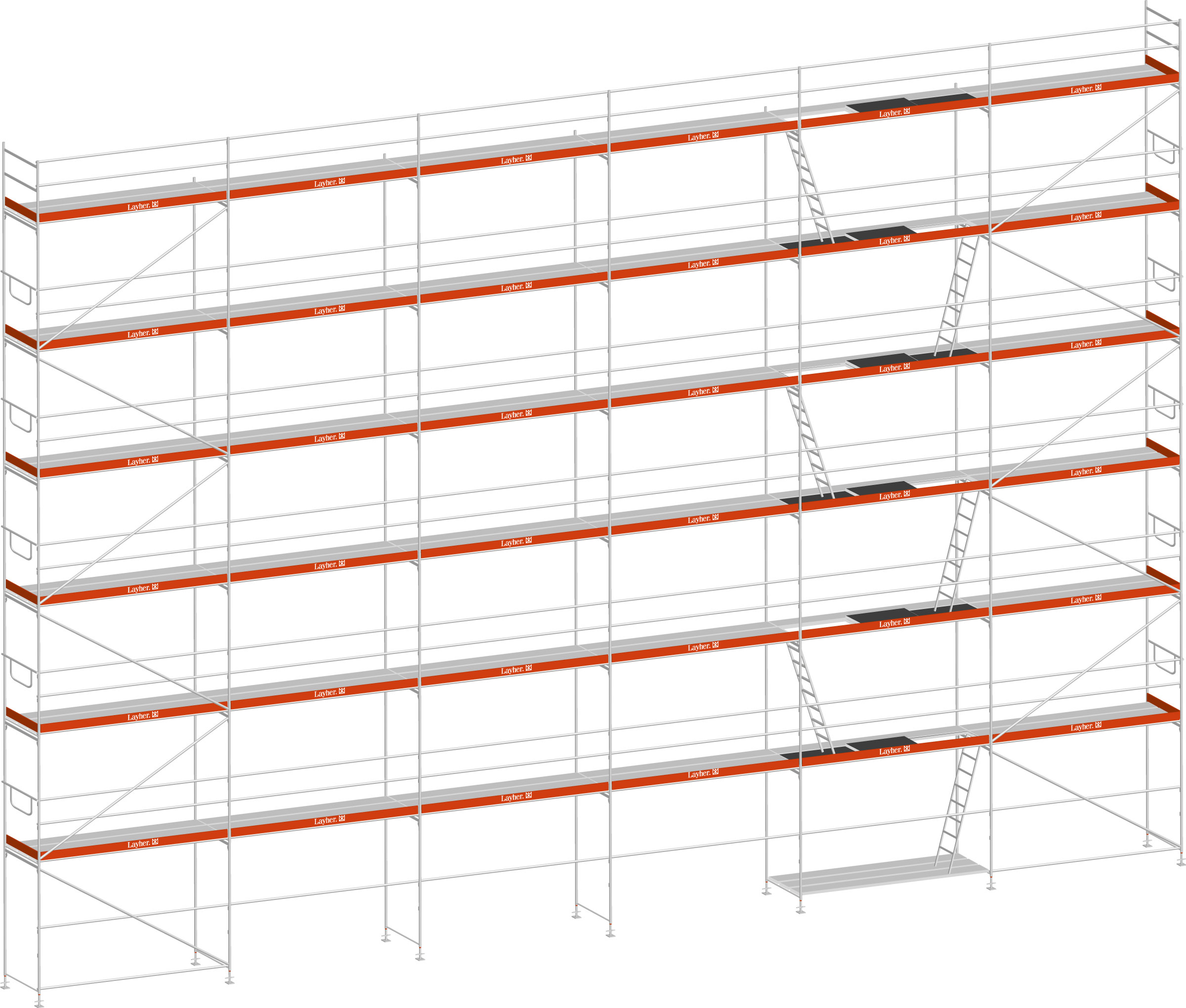 Layher Blitz Gerüst 100 Stahl 219 m²