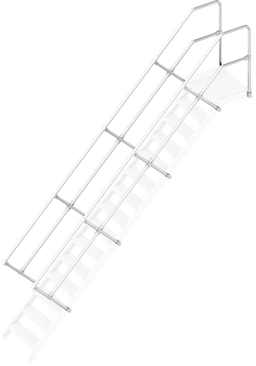 Layher Handlauf Geländer Plattformtreppe 45° 15 Stufen