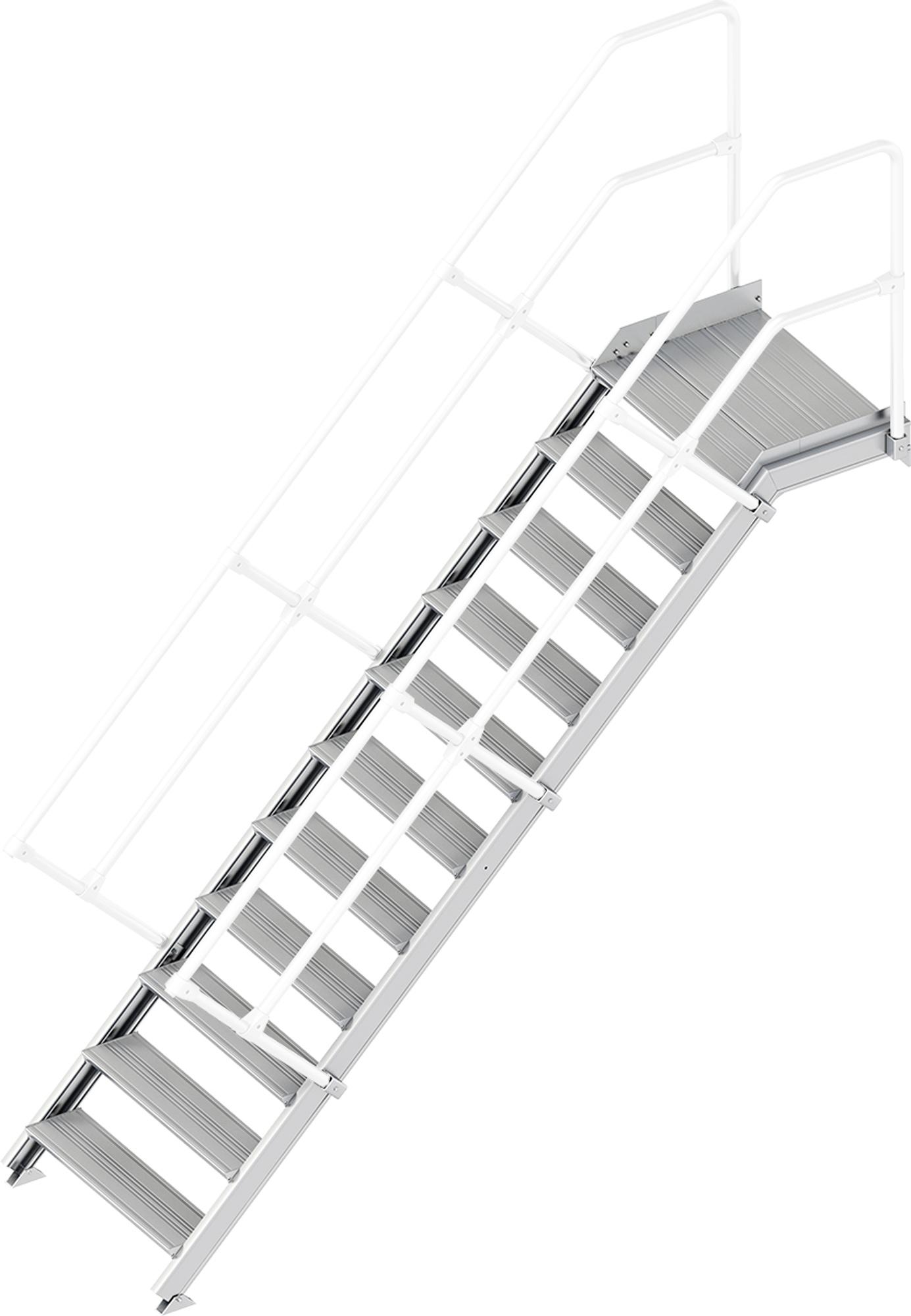 Layher Plattformtreppe 45° 11 Stufen - 800 mm breit