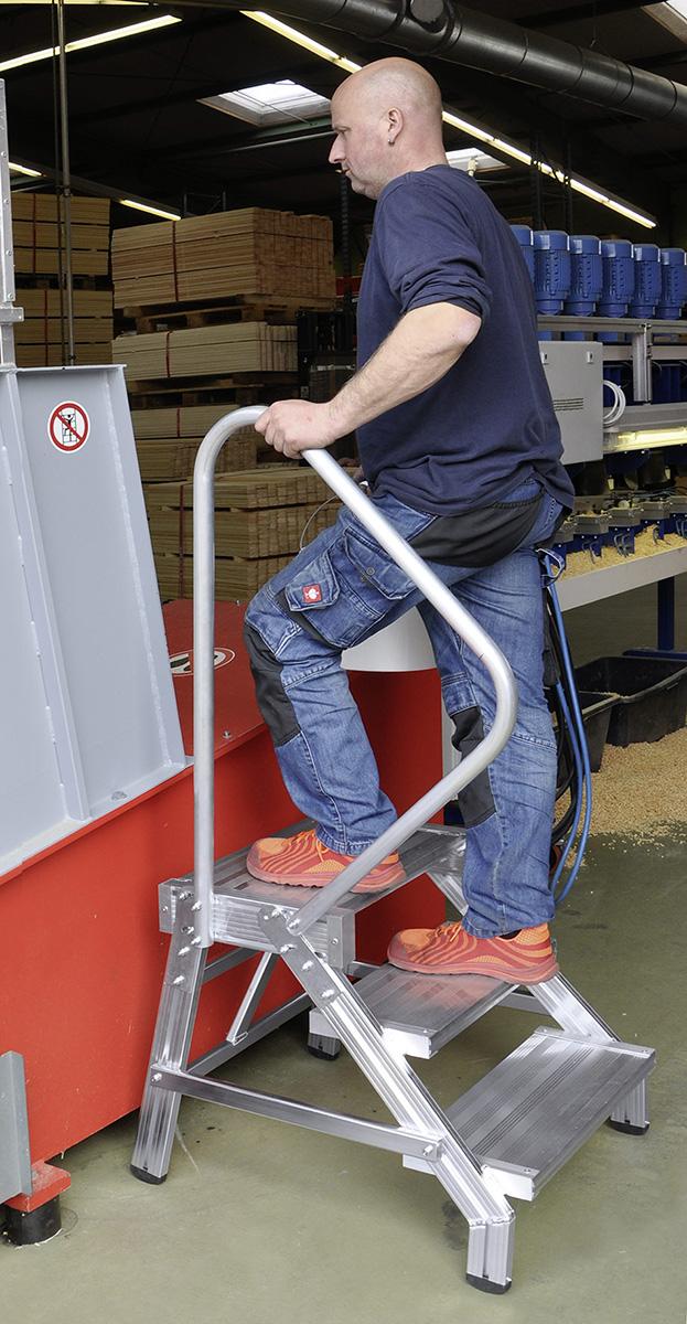 euroline Geländer für Alu-Arbeitstritt