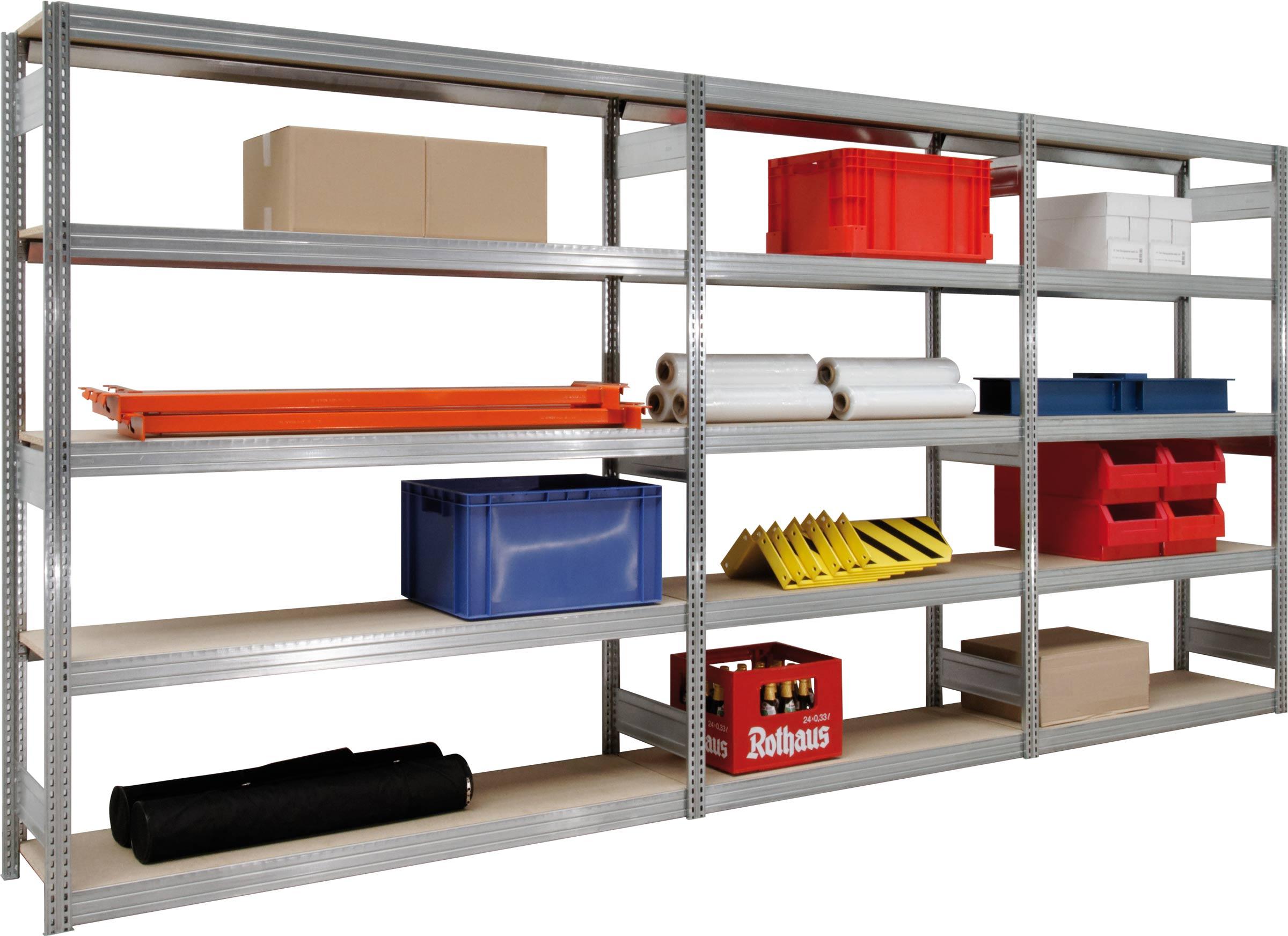 Regalwerk BERT Großfachregal 350 mit Holzeinlage - 5 bis 7 Ebenen (RW-C-B3-60512-30) Bild-01