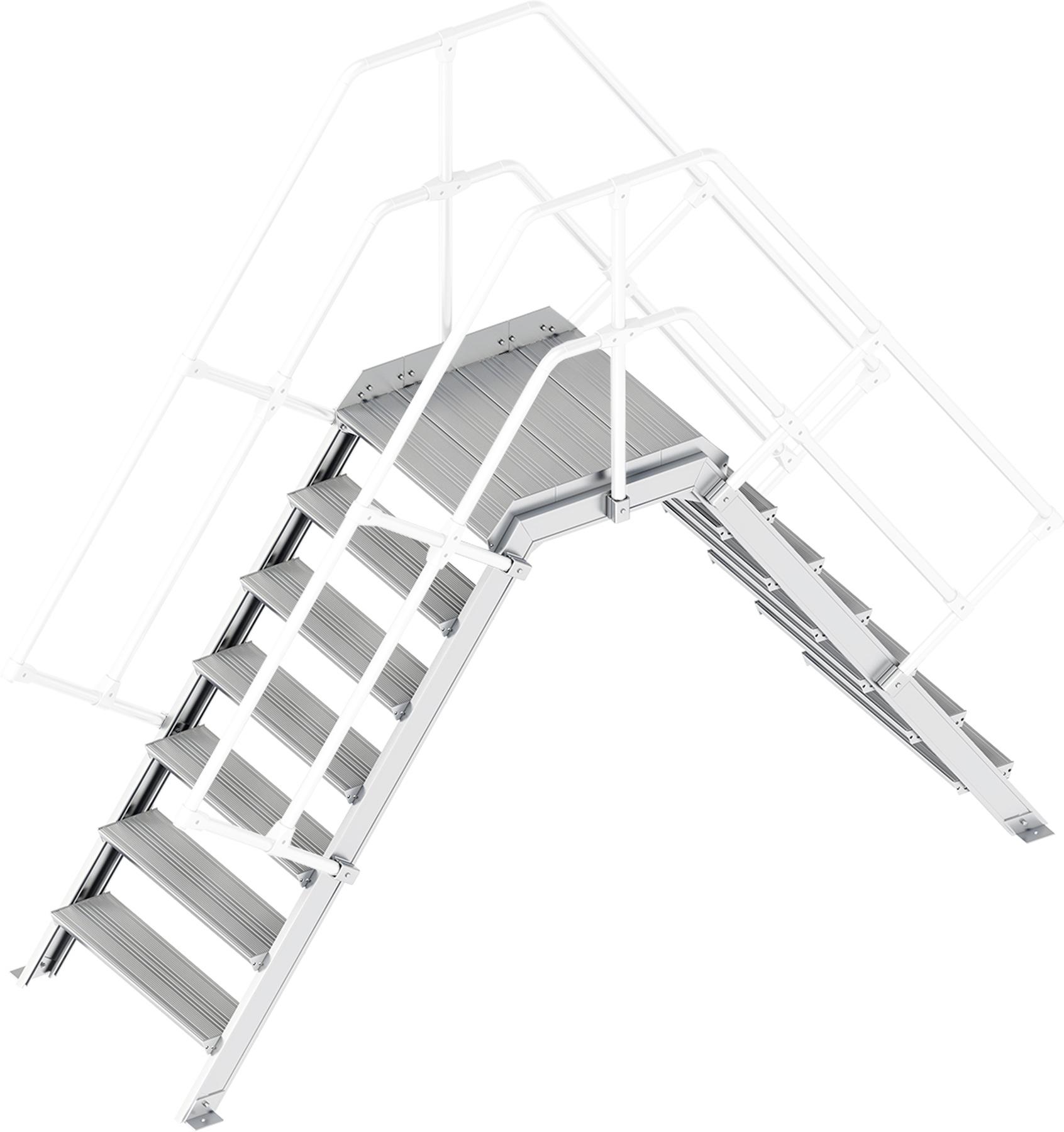 Layher Übergang 55° 7 Stufen - 800 mm breit