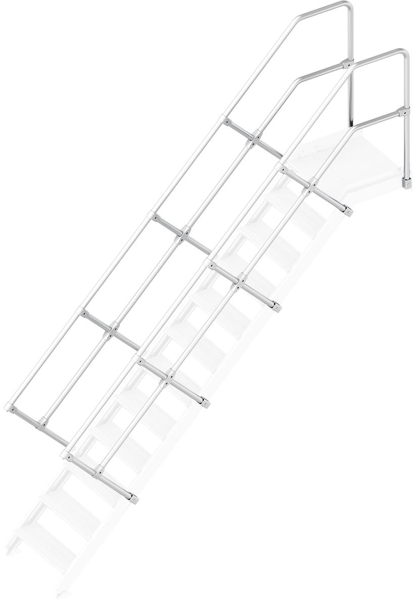 Layher Handlauf Geländer Plattformtreppe 45° 12 Stufen