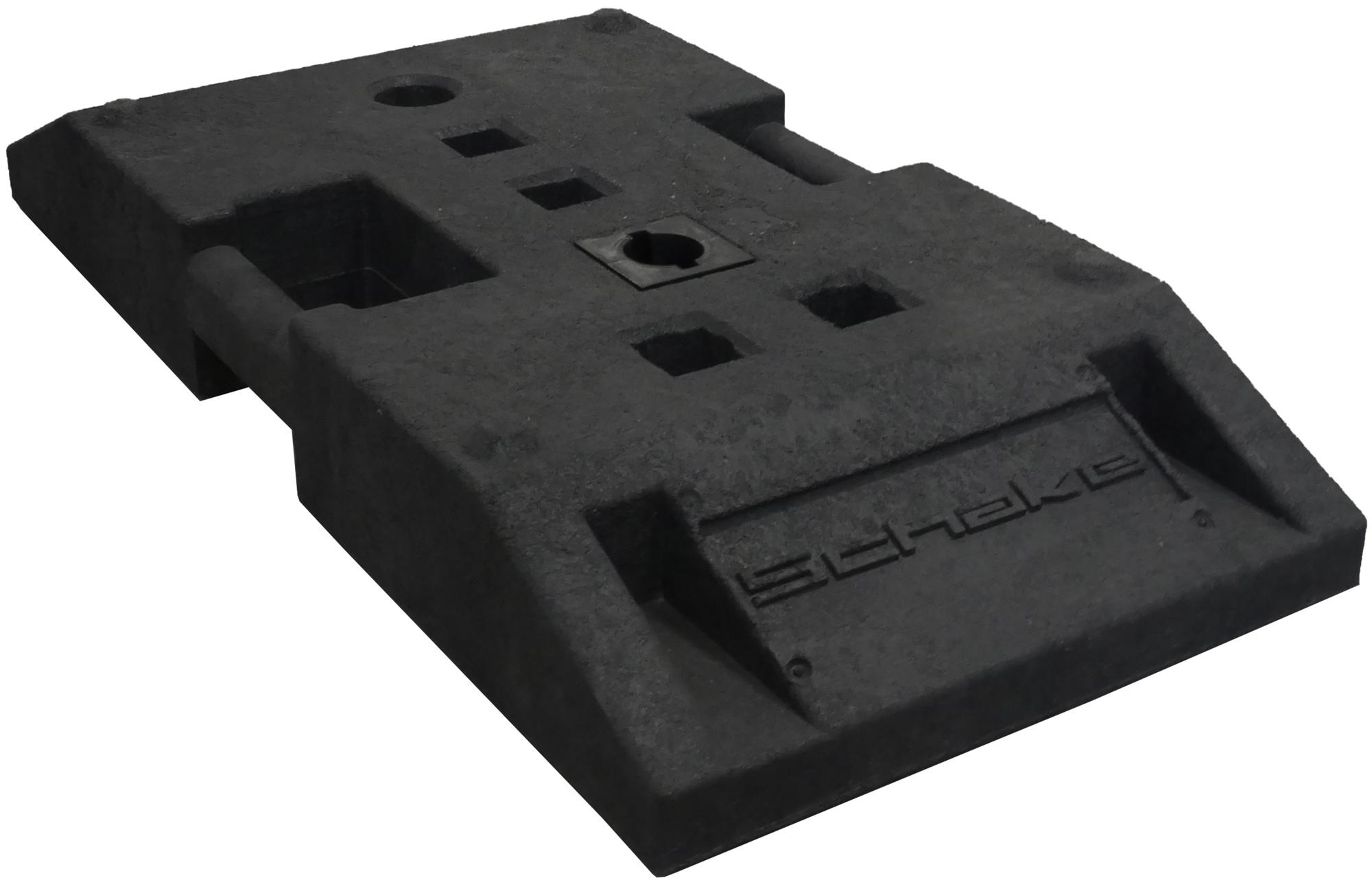Schake BASt Fußplatte nach K1 Typ NOX - 850 x 400 x 120 mm
