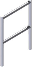 ZARGES Fahrgerüst  Geländerrahmen 1,00 m