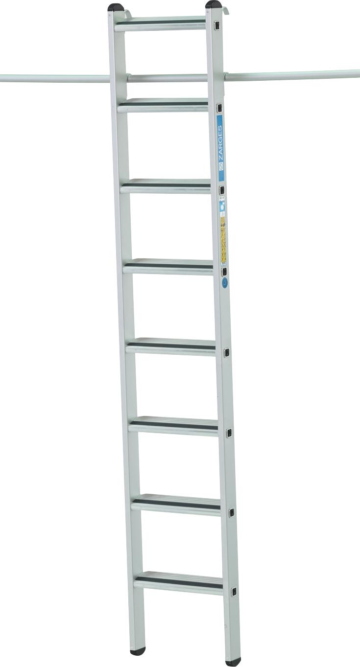 ZARGES Leiter Regalleiter einhängbar Saferstep LH - 6 Stufen
