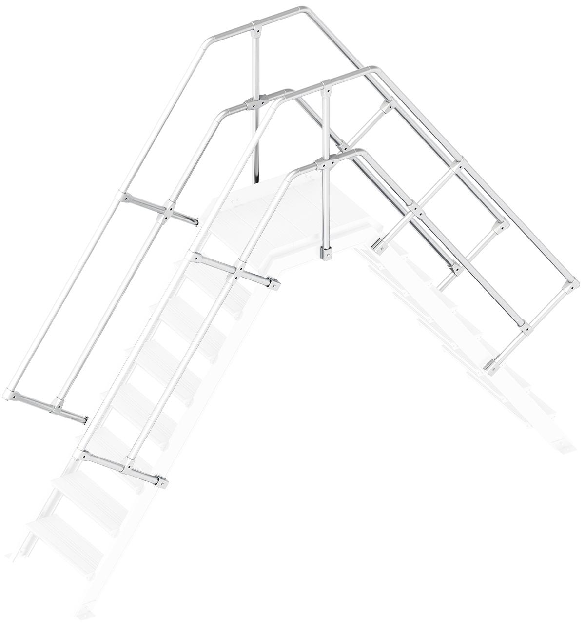Layher Handlauf Geländer Übergang 55° 8 Stufen