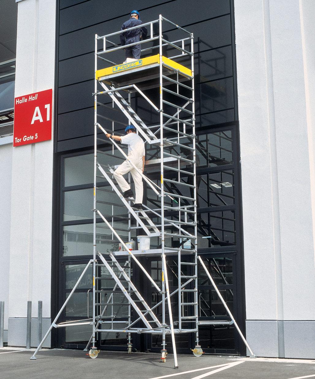 Fahrgerüst ZARGES Treppengerüst MultiTower 2DT 1,35x2,50m - AH 10,40m