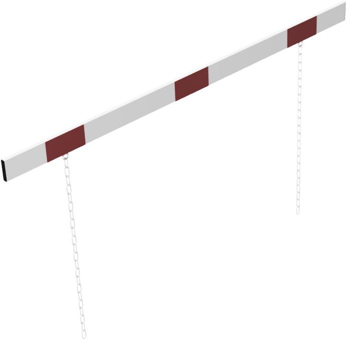 Schake Höhenbegrenzer Barriere 100 x 50 mm mit Ketten weiß | rot