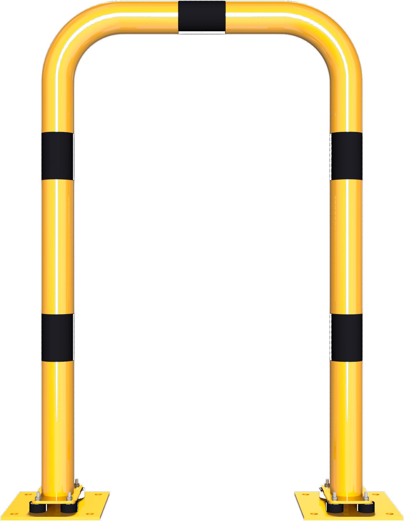 Schake Rammschutzbügel Stahl neigbar Ø 76 mm gelb | schwarz