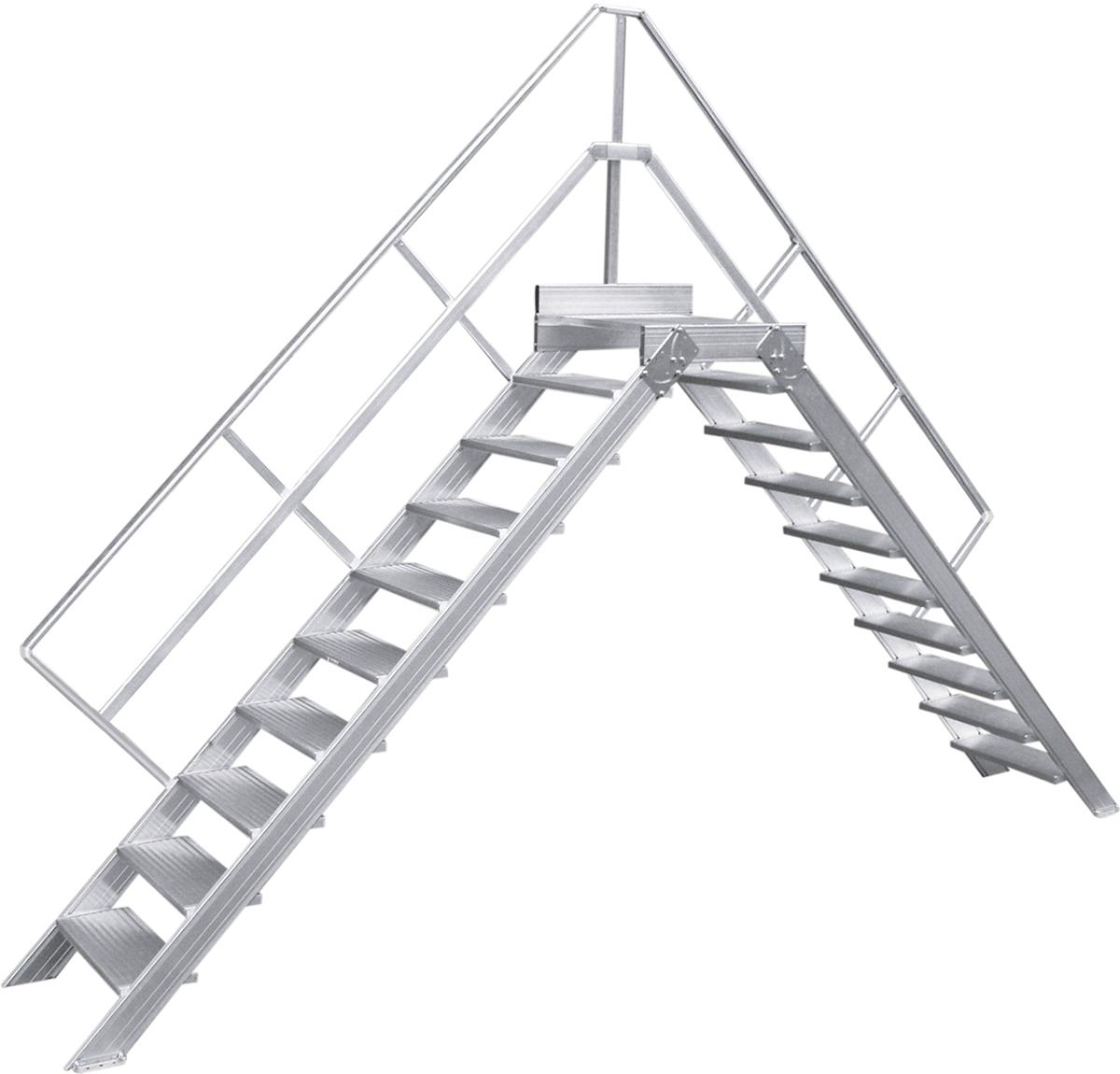 Hymer Überstieg 45° 3 Stufen - 1000 mm