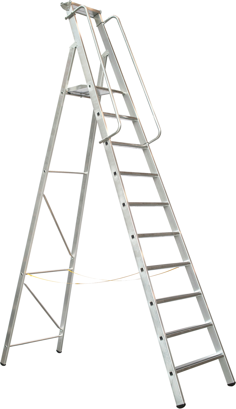 ZARGES Stufen Stehleiter Meistertritt S - 10 Stufen