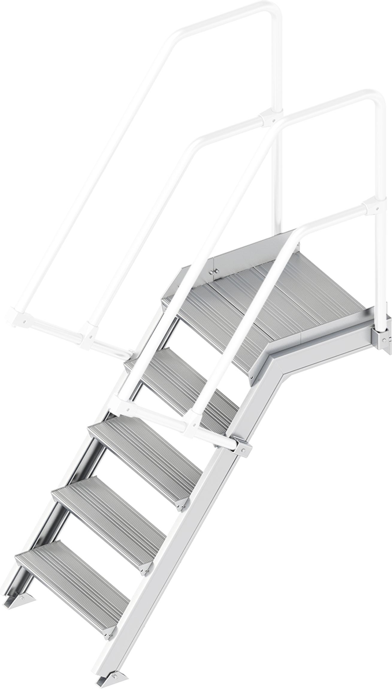 Layher Plattformtreppe 55° 5 Stufen - 600 mm breit