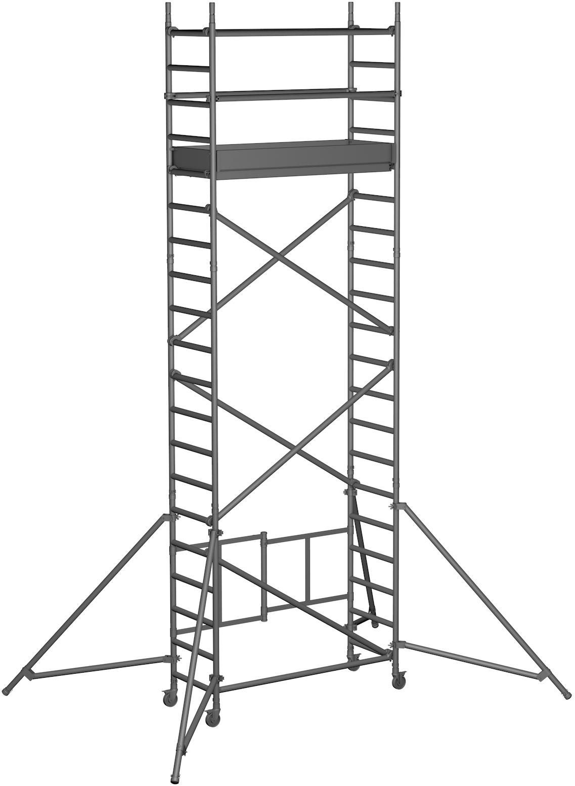 Klappgerüst ZARGES Reachmaster 1T - AH 6,55m