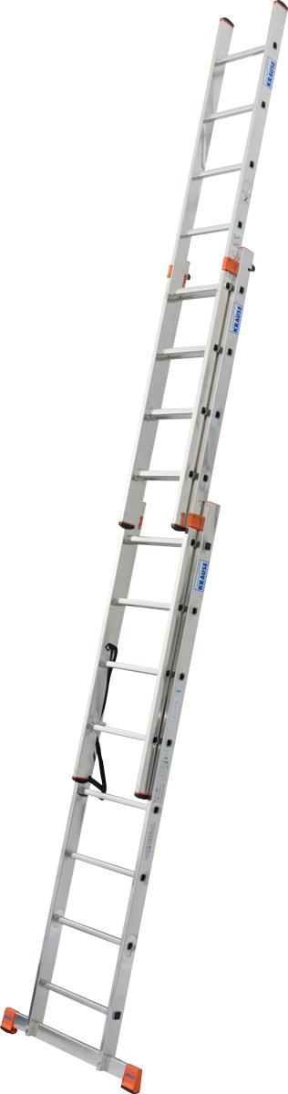 Krause Alu-Sprossenvielzweckleiter Tribilo® treppengängig 3x8 Sprossen