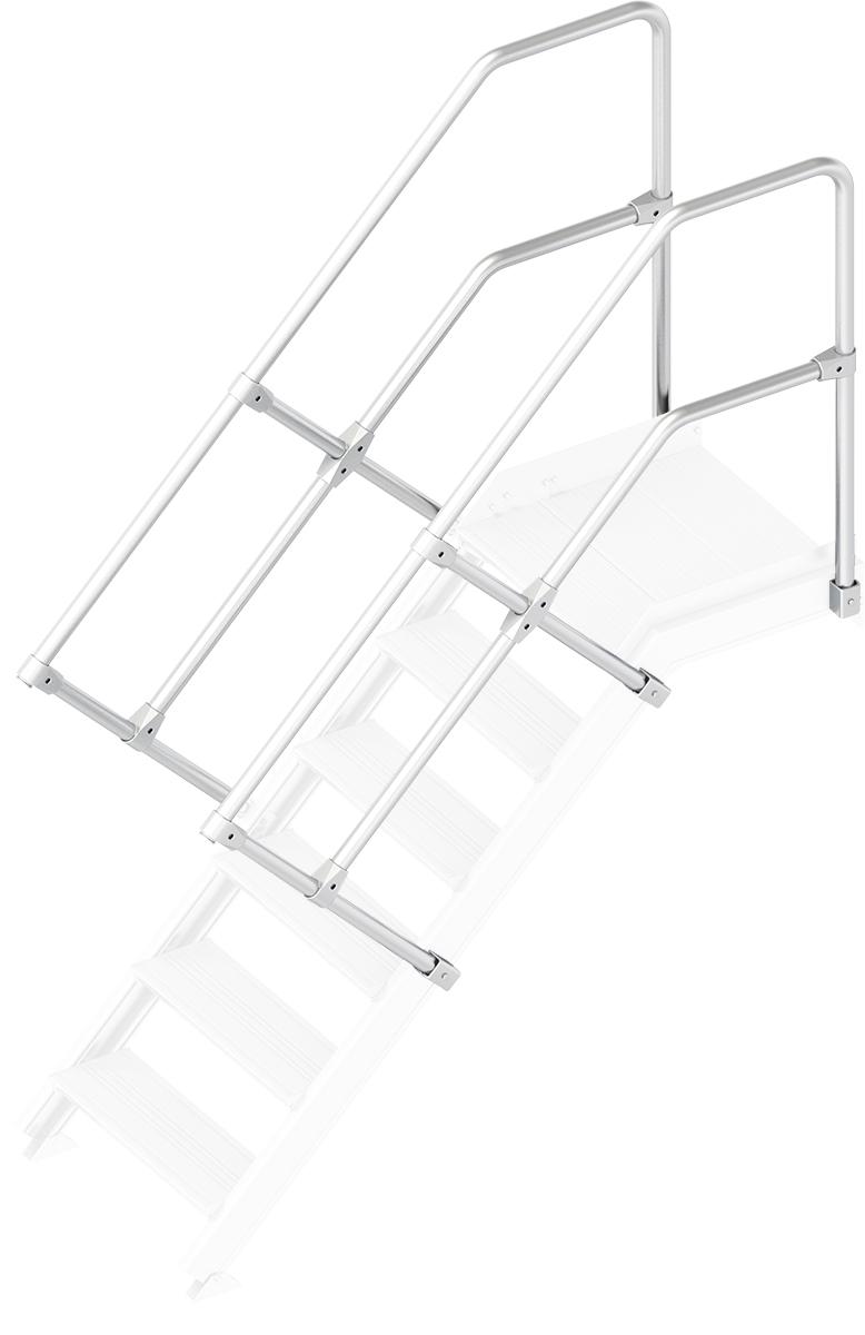 Layher Handlauf Geländer Plattformtreppe 45° 6 Stufen