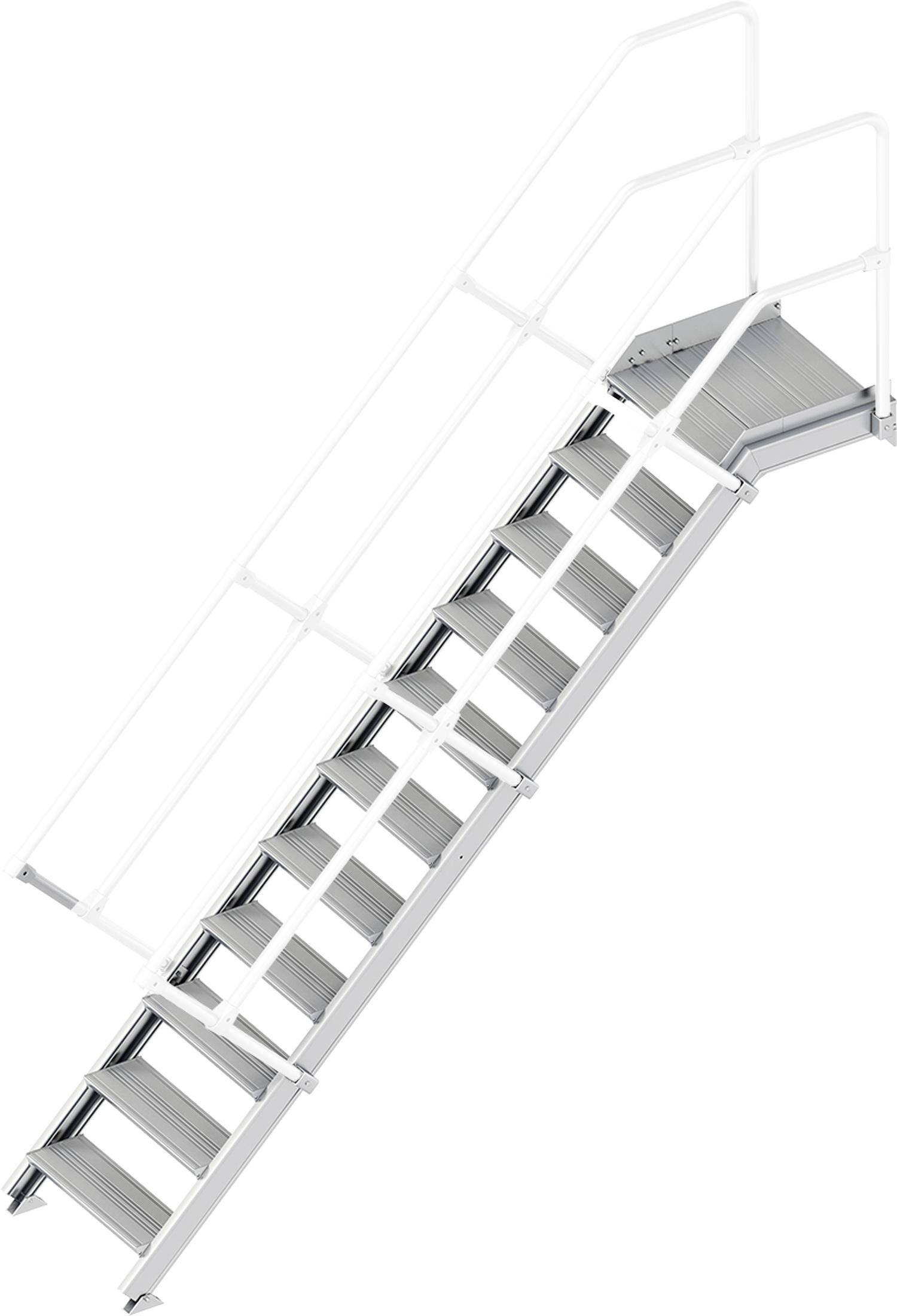 Layher Plattformtreppe 45° 11 Stufen - 600 mm breit
