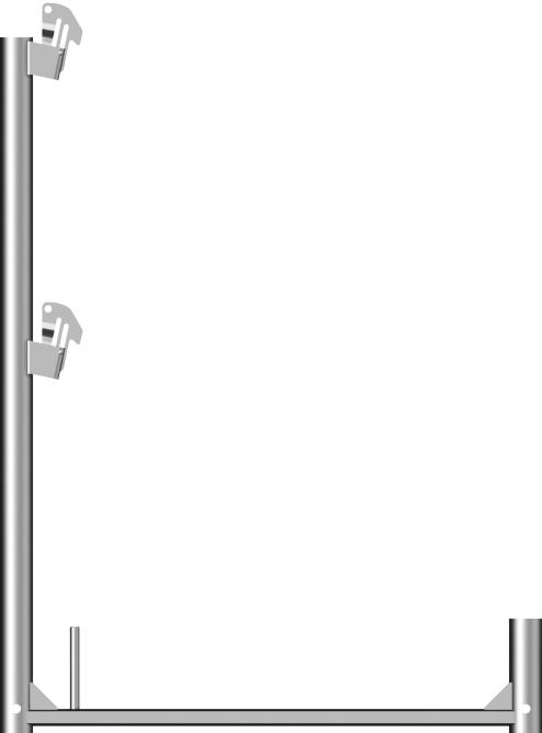 Layher Blitz Geländerstütze Alu 1,00 x 0,73 m