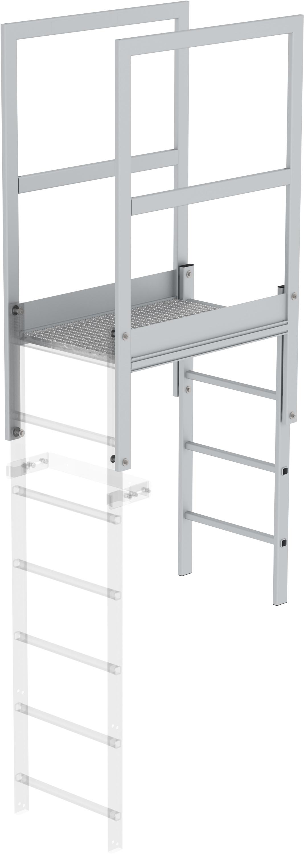 Günzburger Attika-Überstieg Aluminium eloxiert