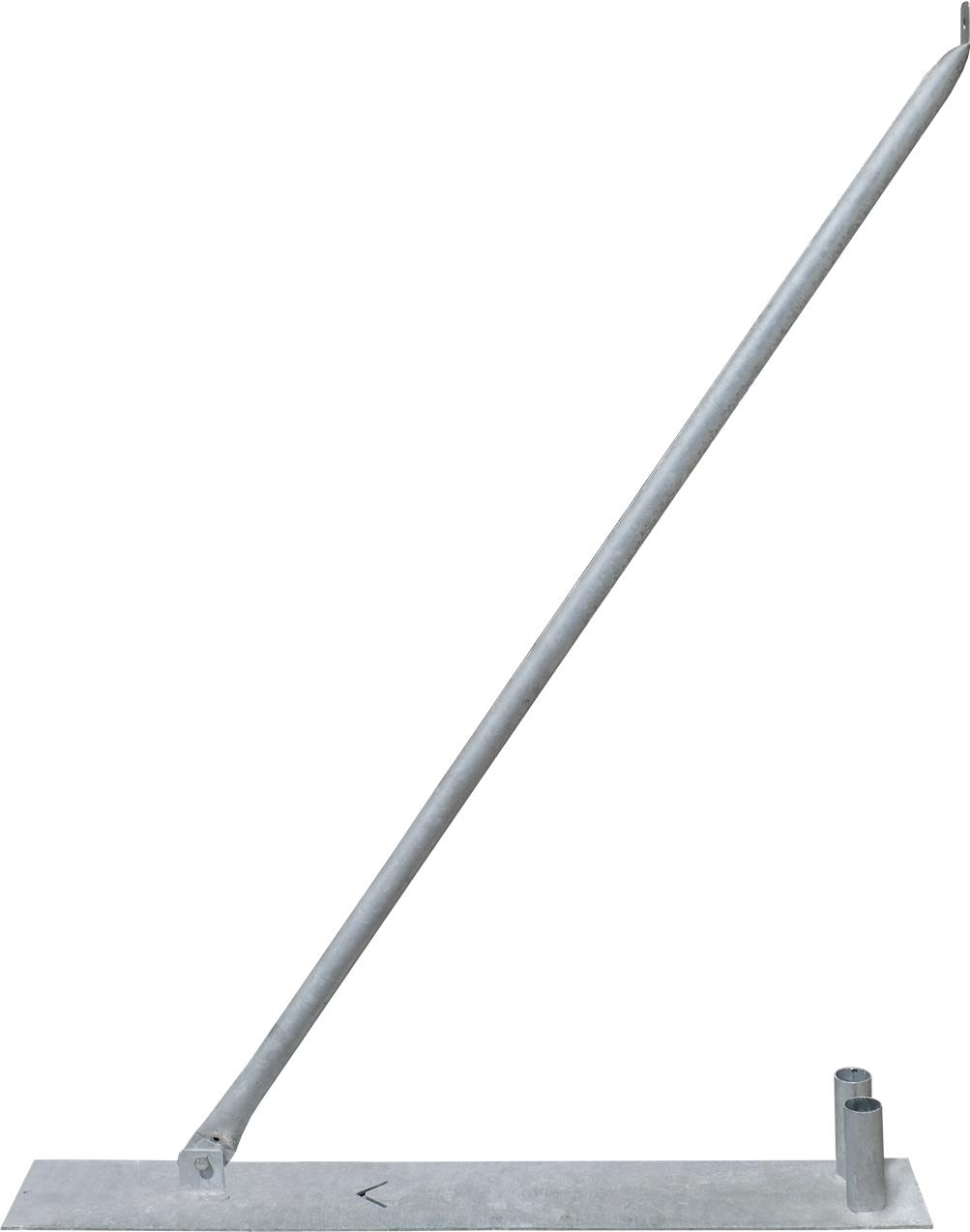 Schake Mobilzaun-Stützstrebe für 2,00 m Bauzaun inkl. Bodenplatte