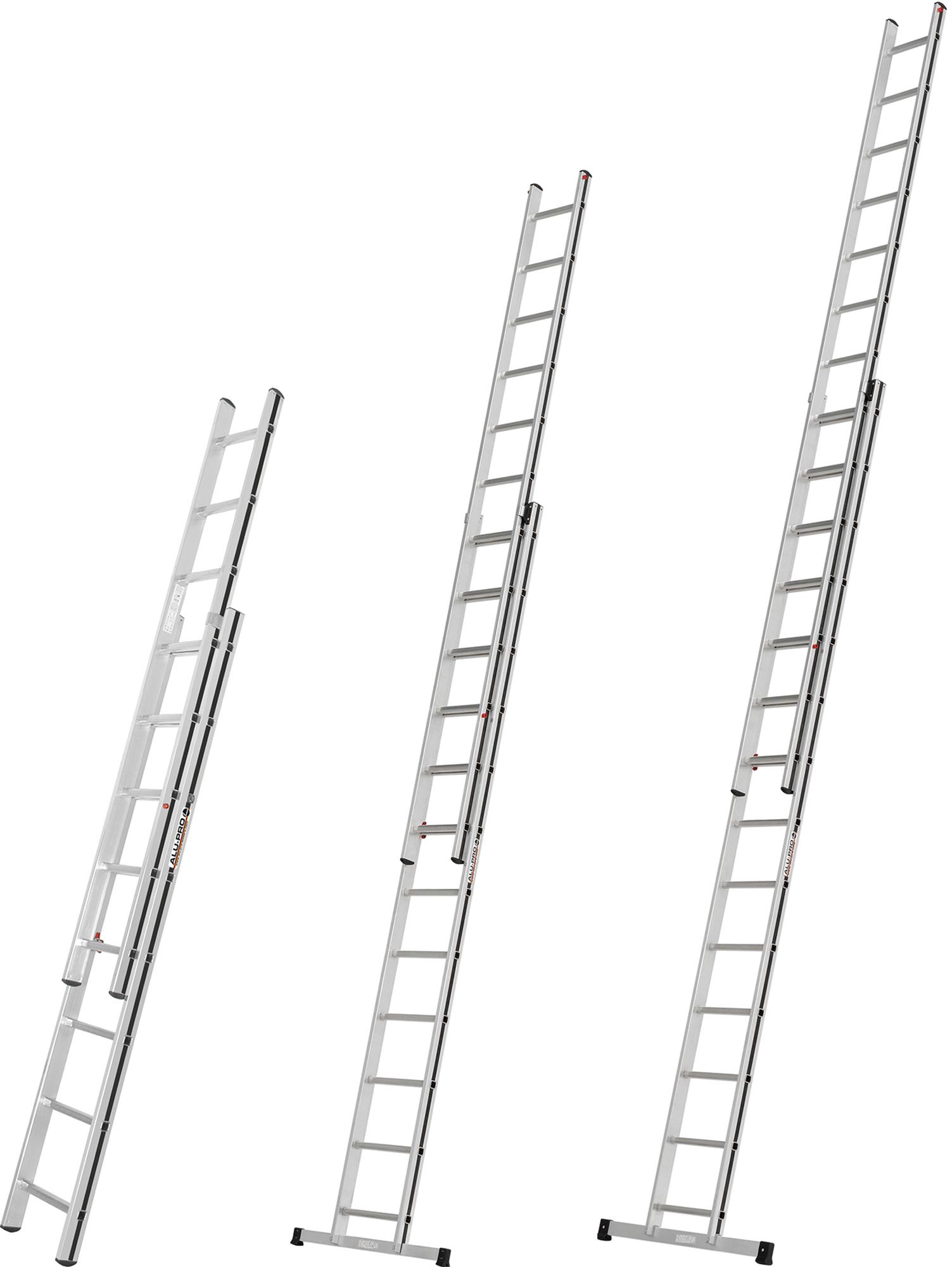 Hymer Alu-Pro Schiebeleiter 2-teilig 2x8 - 2x14 Sprossen