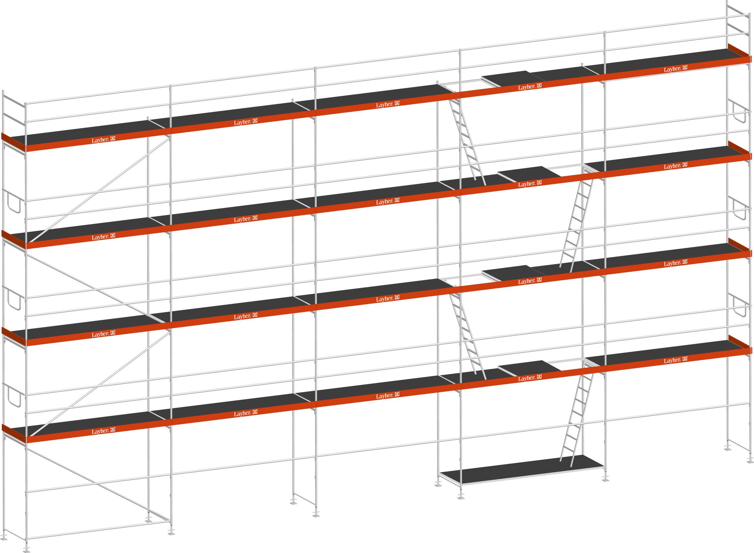 Layher Blitz Gerüst 70 Stahl 156 m²