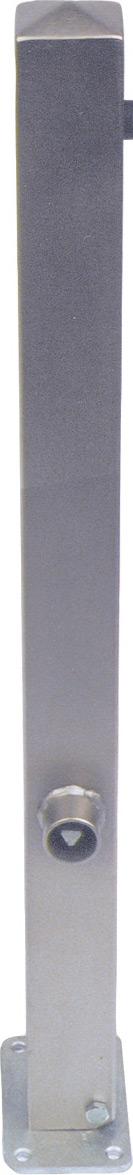 Schake Edelstahlpfosten UED 70 x 70 mm Pfosten mit Flachkopf - umlegbar - zum Einbetonieren - mit Dreikantverschluss (SK-4070FU) Bild-01