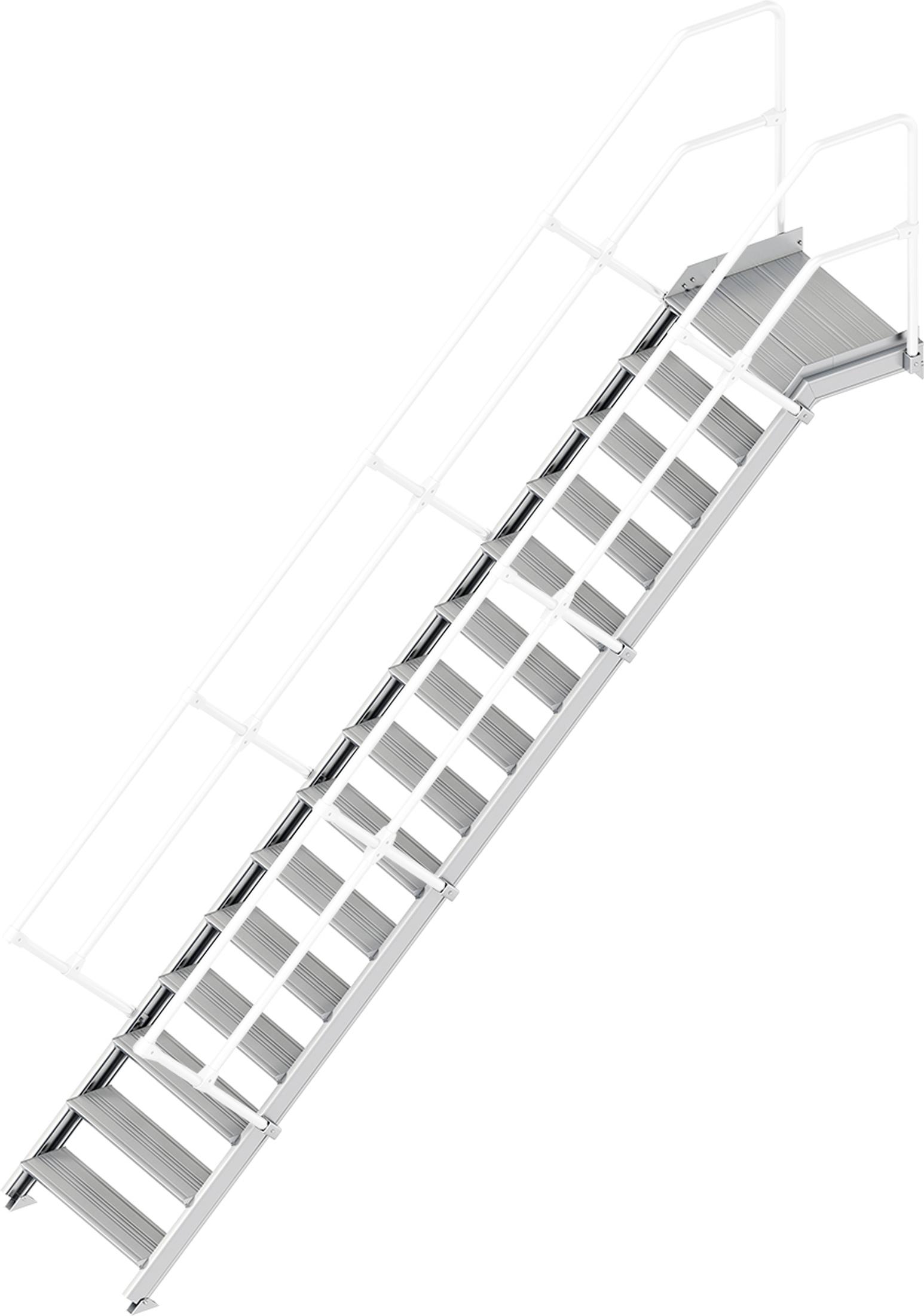 Layher Plattformtreppe 45° 15 Stufen - 800 mm breit