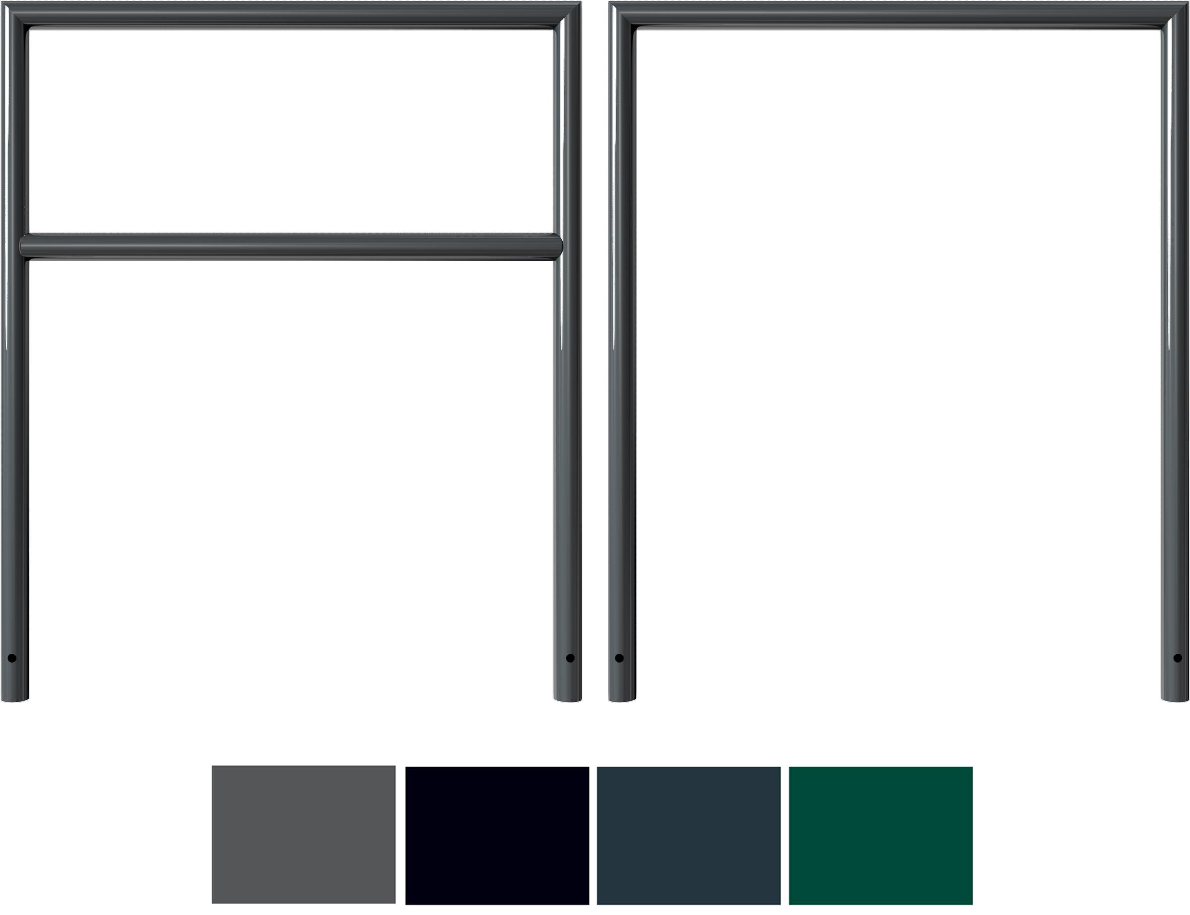 Schake Anlehnbügel Stahl Ø 48 mm Sonderfarben - auf Gehrung geschweißt