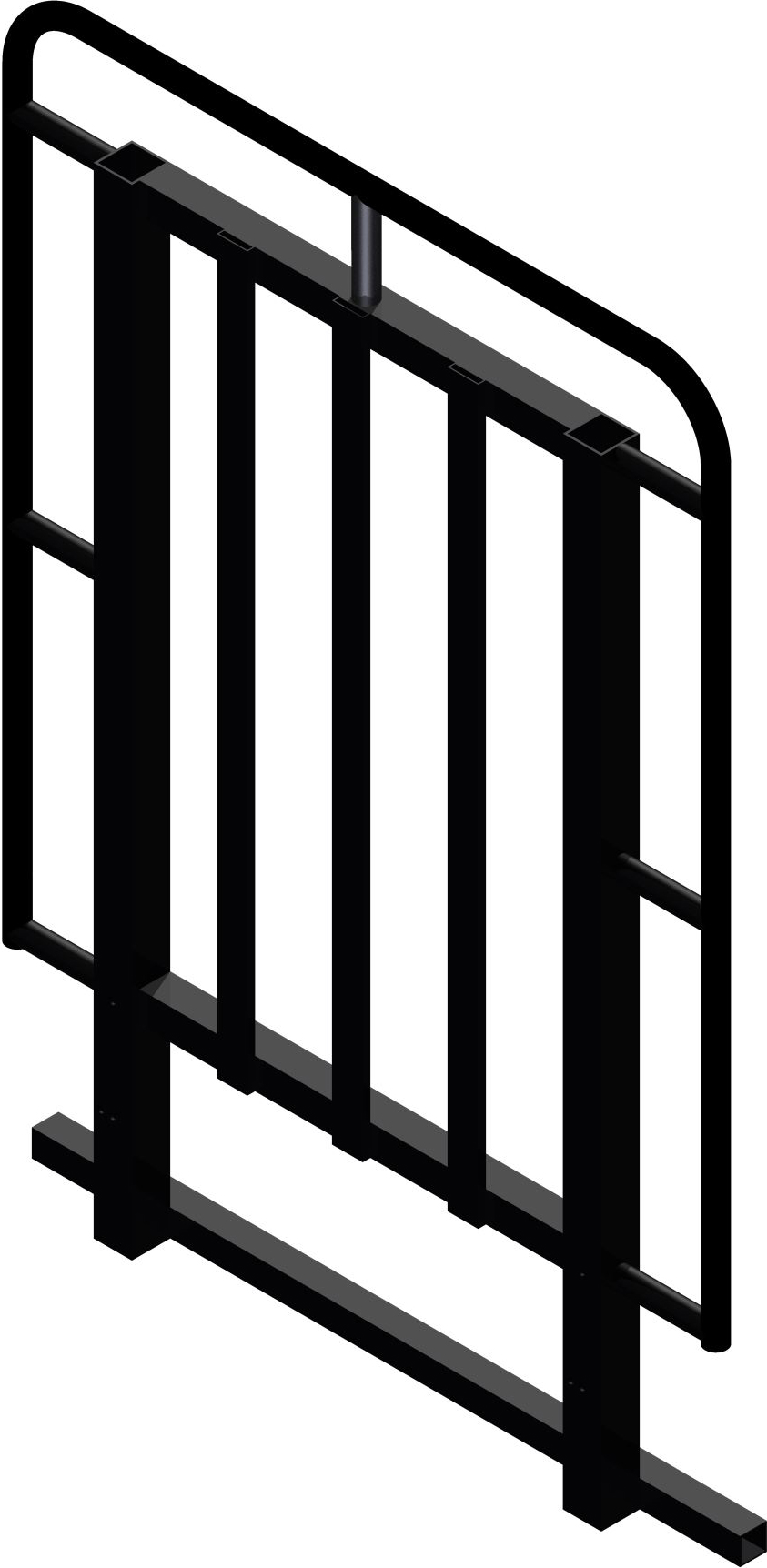 Bütec Sicherheitsgeländer Stahl 110 cm - 4 x 2 m
