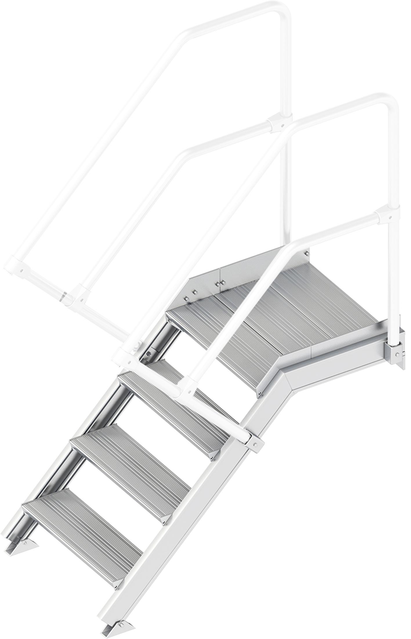 Layher Plattformtreppe 45° 4 Stufen - 600 mm breit