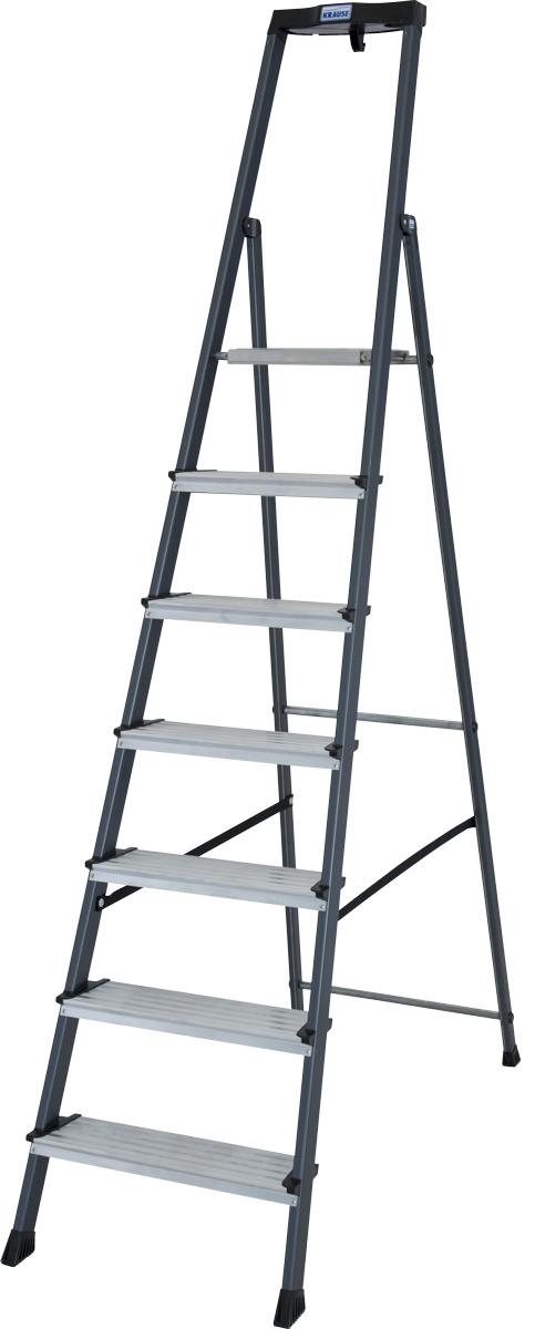 Krause Alu-Stufenstehleiter Securo® eloxiert 7 Stufen