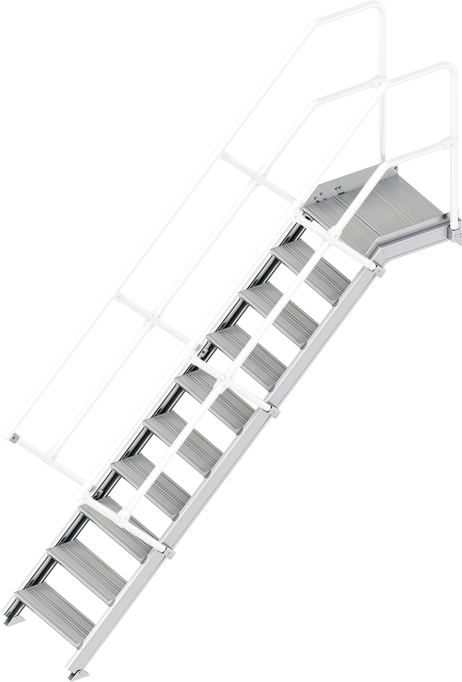 Layher Plattformtreppe 45° 10 Stufen - 600 mm breit