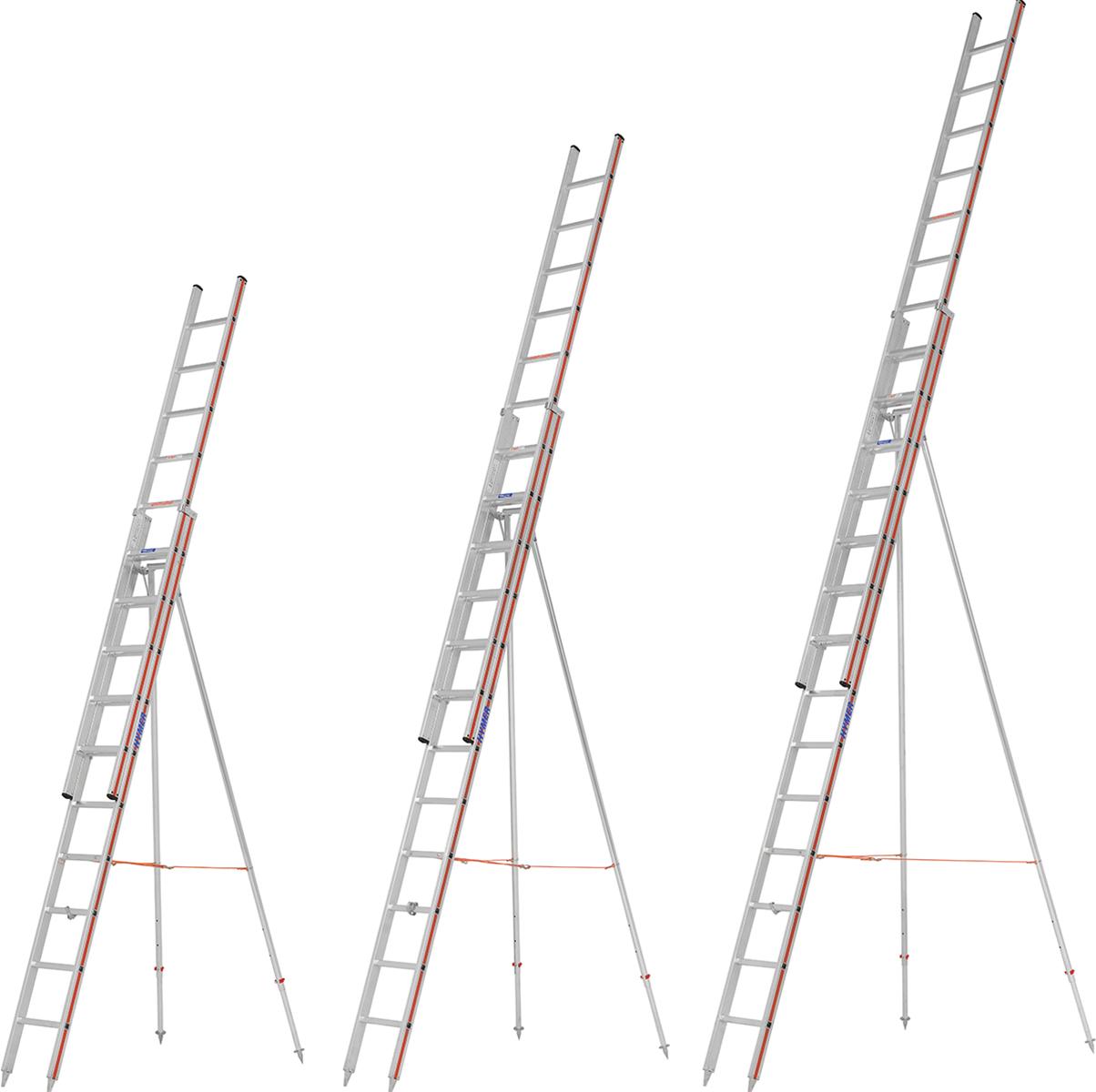 Hymer Obstbaumleiter 2-teilig - 2x10 - 2x14 Sprossen