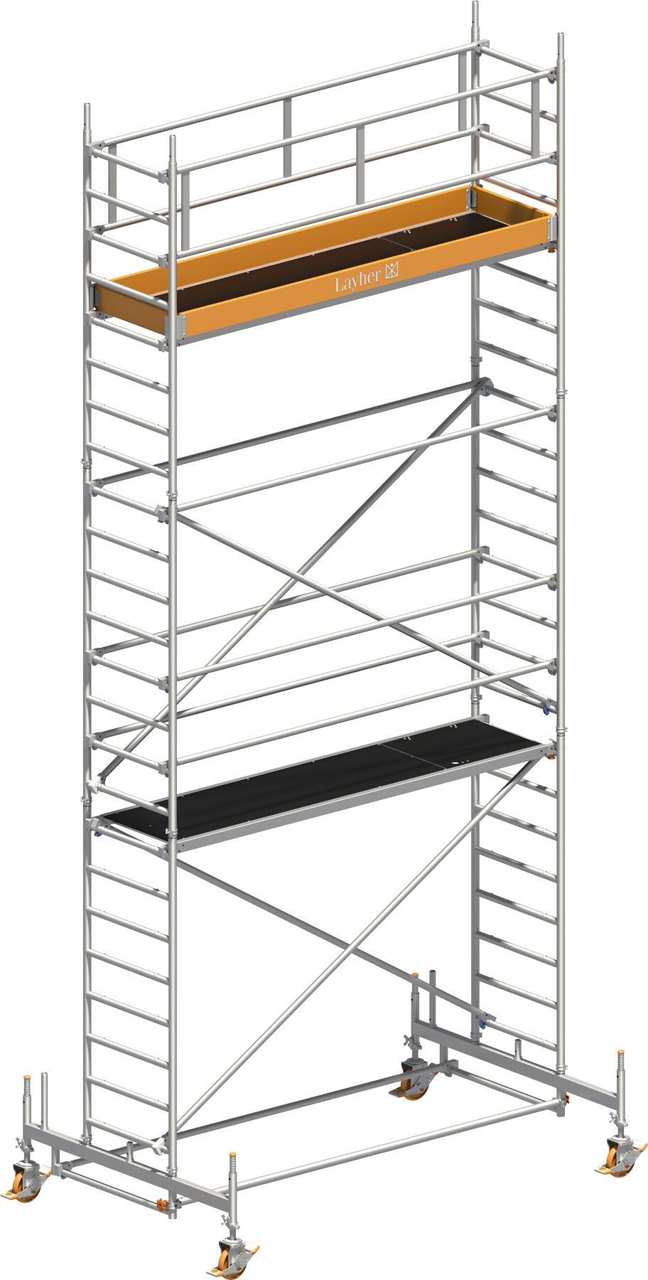 layher uni standard alu fahrger st 1105 online kaufen. Black Bedroom Furniture Sets. Home Design Ideas