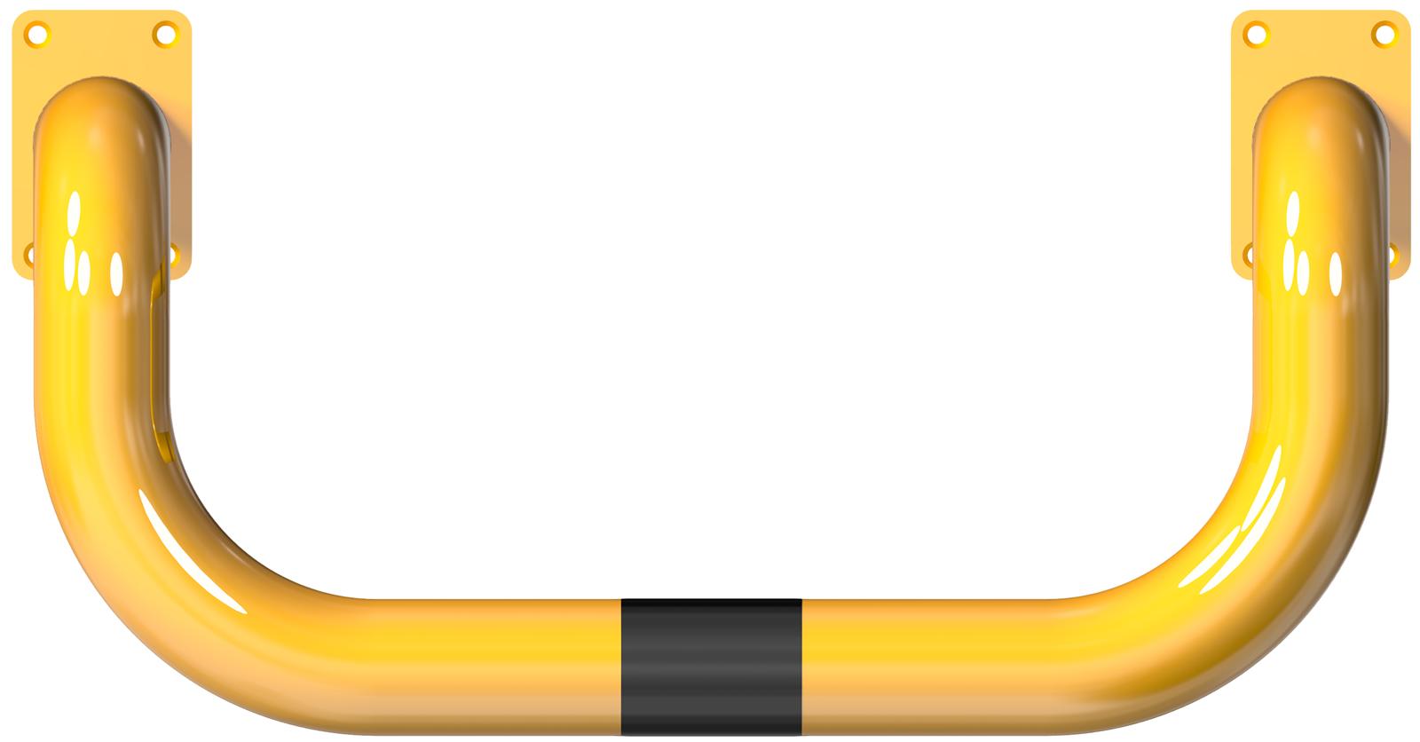 Schake Rammschutzbügel Stahl 90° doppelseitig vertieft Ø 76 mm - gelb | schwarz
