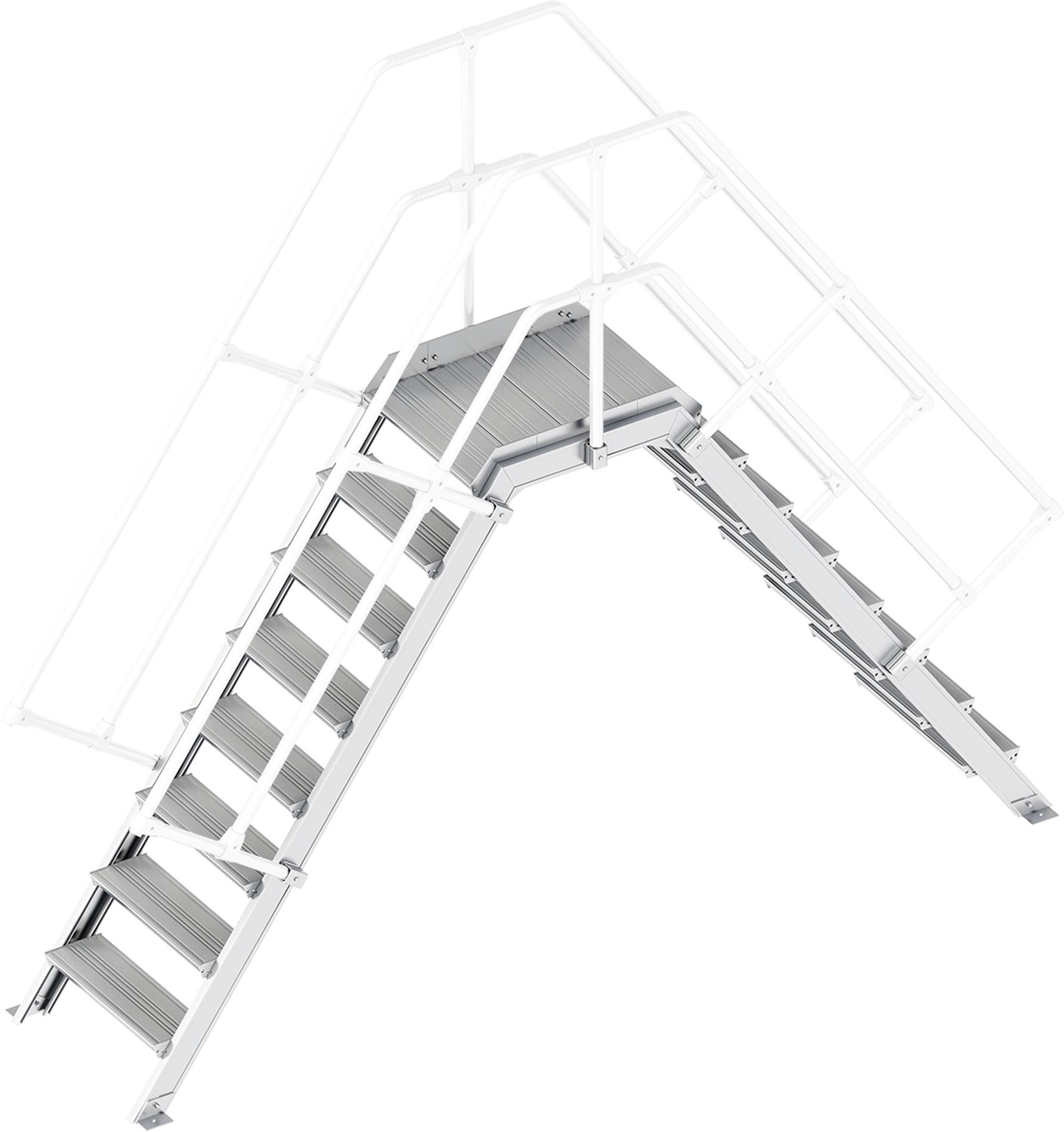 Layher Übergang 55° 8 Stufen - 600 mm breit