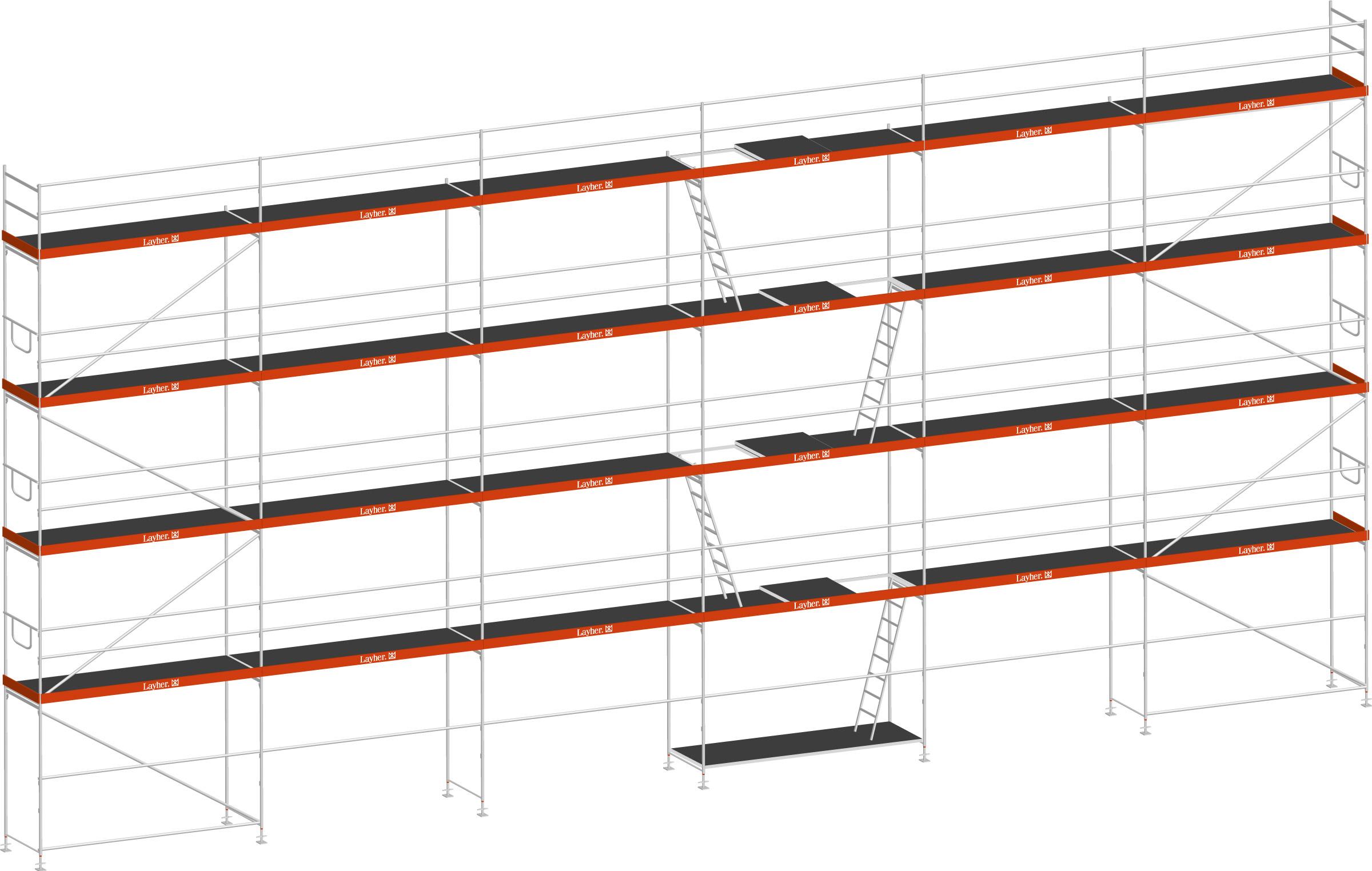 Layher Blitz Gerüst 70 Stahl 189 m²