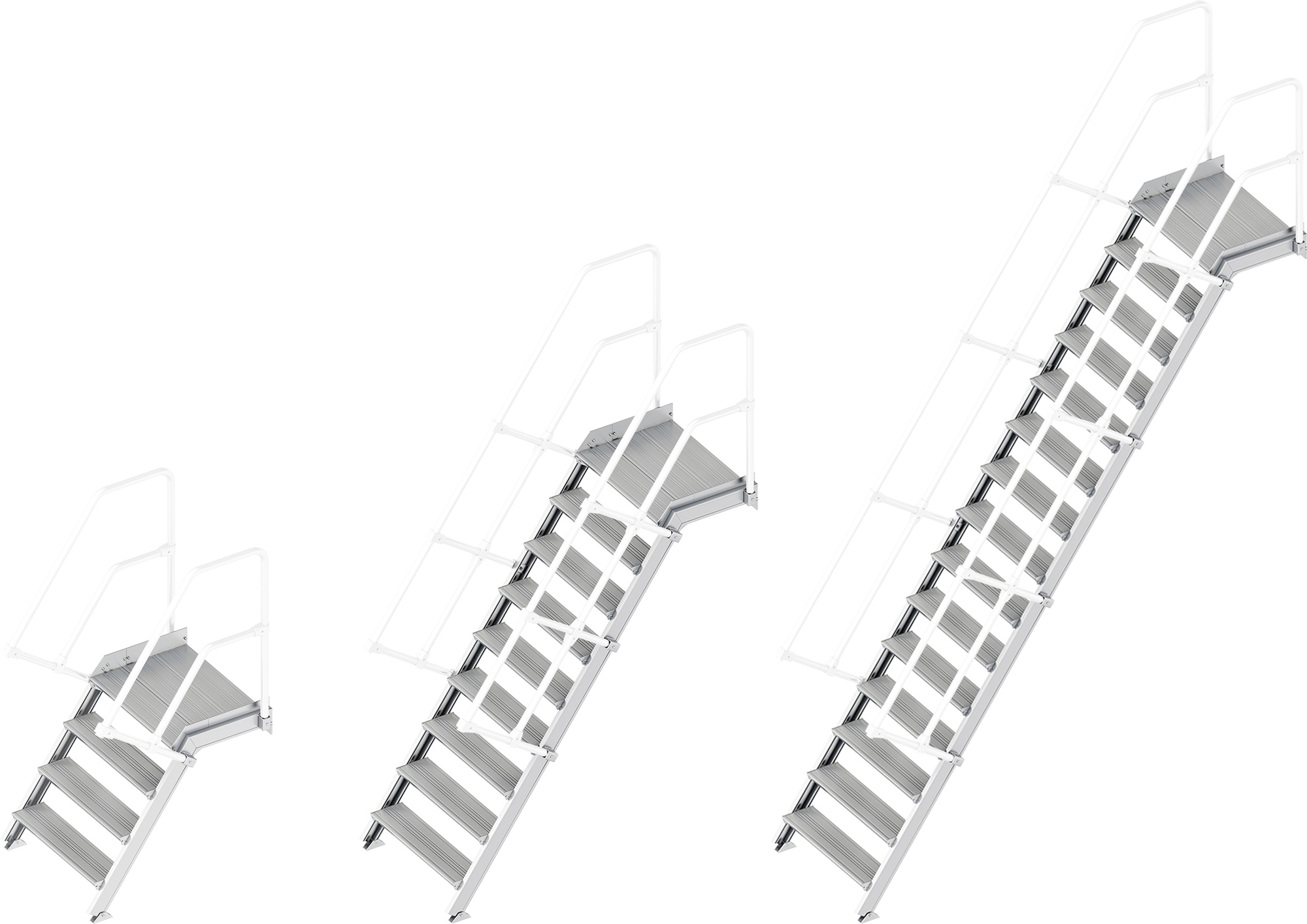 Layher Plattformtreppe 55° - 800 mm breit