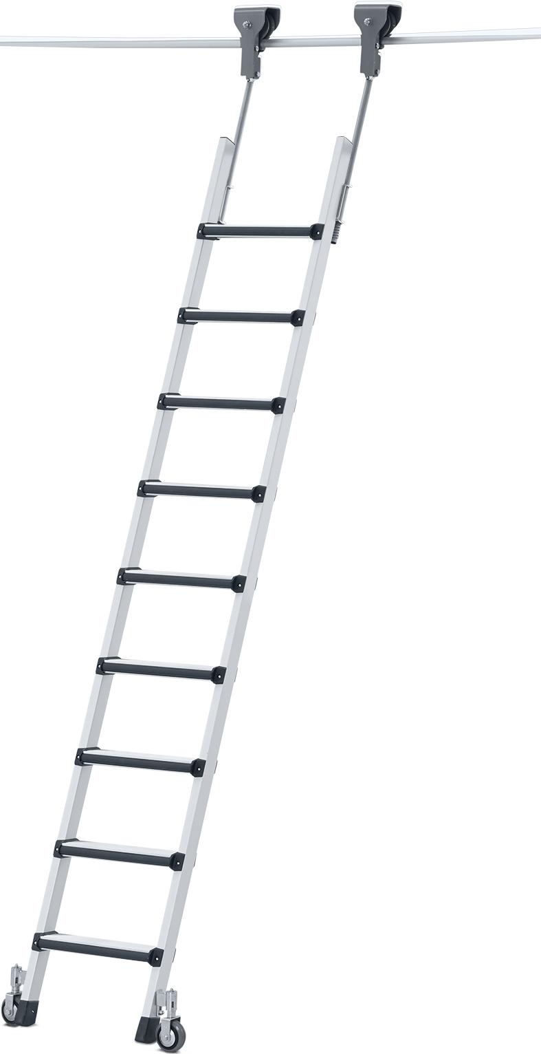 ZARGES Leiter Regalleiter fahrbar Comfortstep Trec LH - Stufen