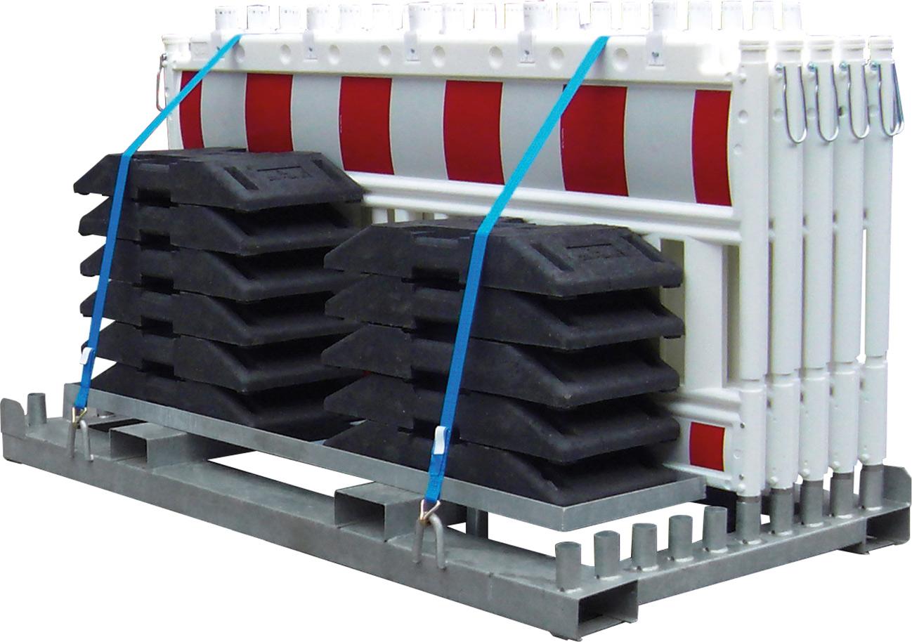 Schake Schrankenzaunset Typ NOX mit Transporttraverse