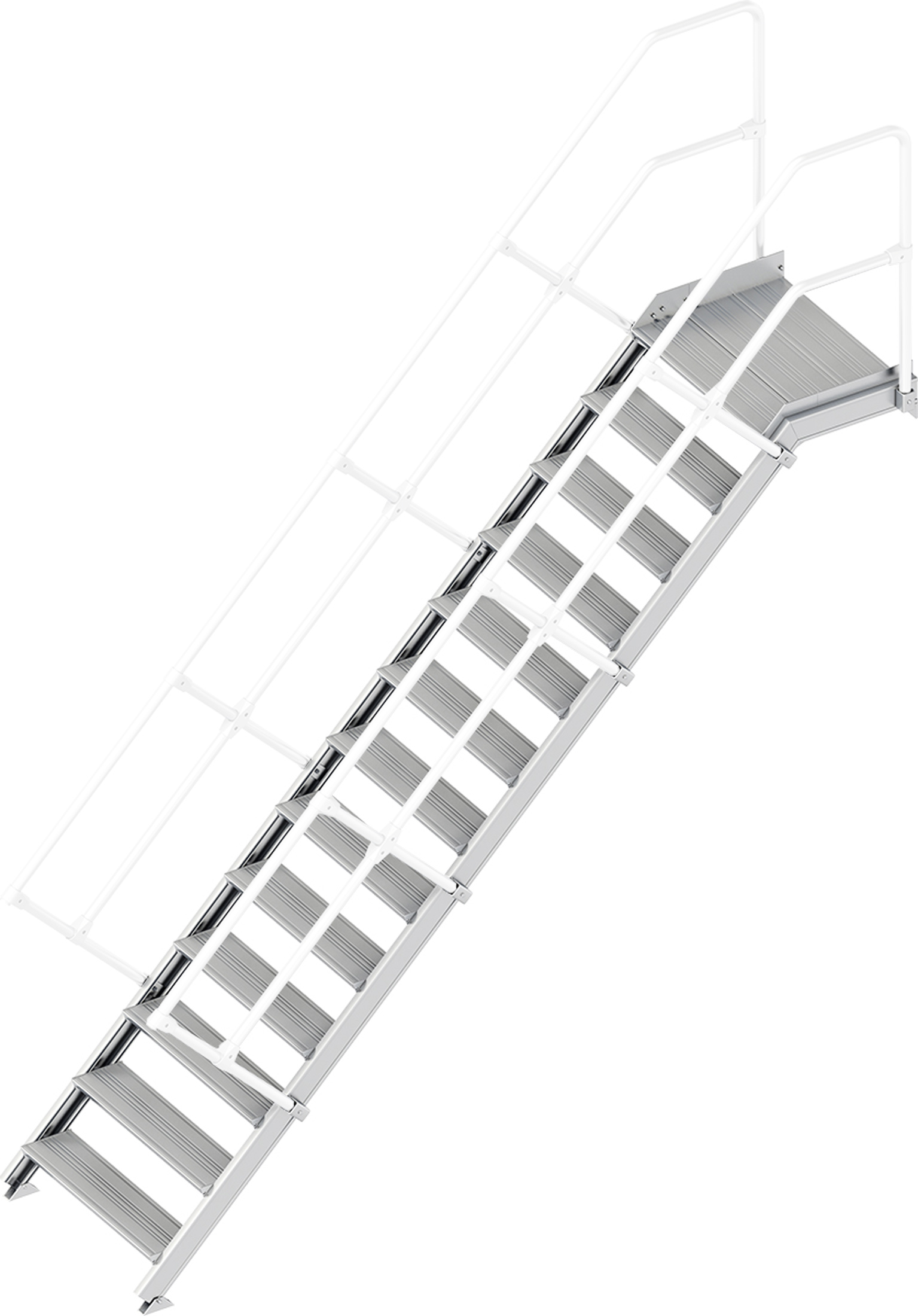 Layher Plattformtreppe 45° 13 Stufen - 800 mm breit